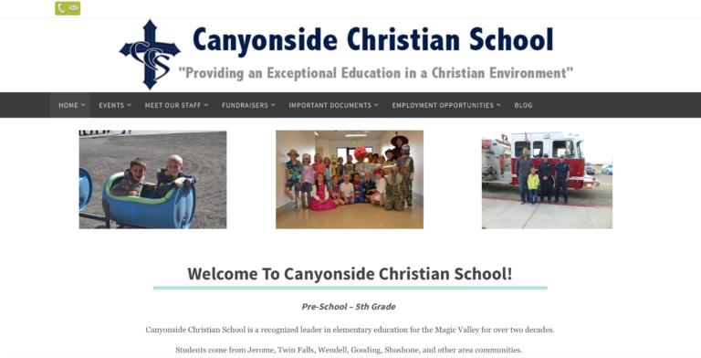 Canyonside Christian School - Staff Directory, Events Calendar, Fundraising Info & Blog