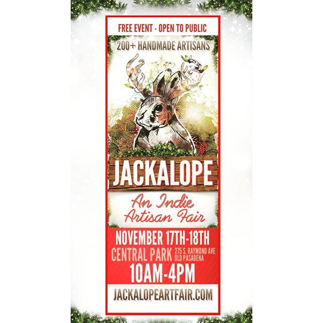 Jackalope Art Fair ~ Free admission  November 17&18 ~ Pasadena Central Park Come shop for the holidays, grab food truck grub & meet the makers.  #watercolorartist #mapstagram #jackalopepasadena