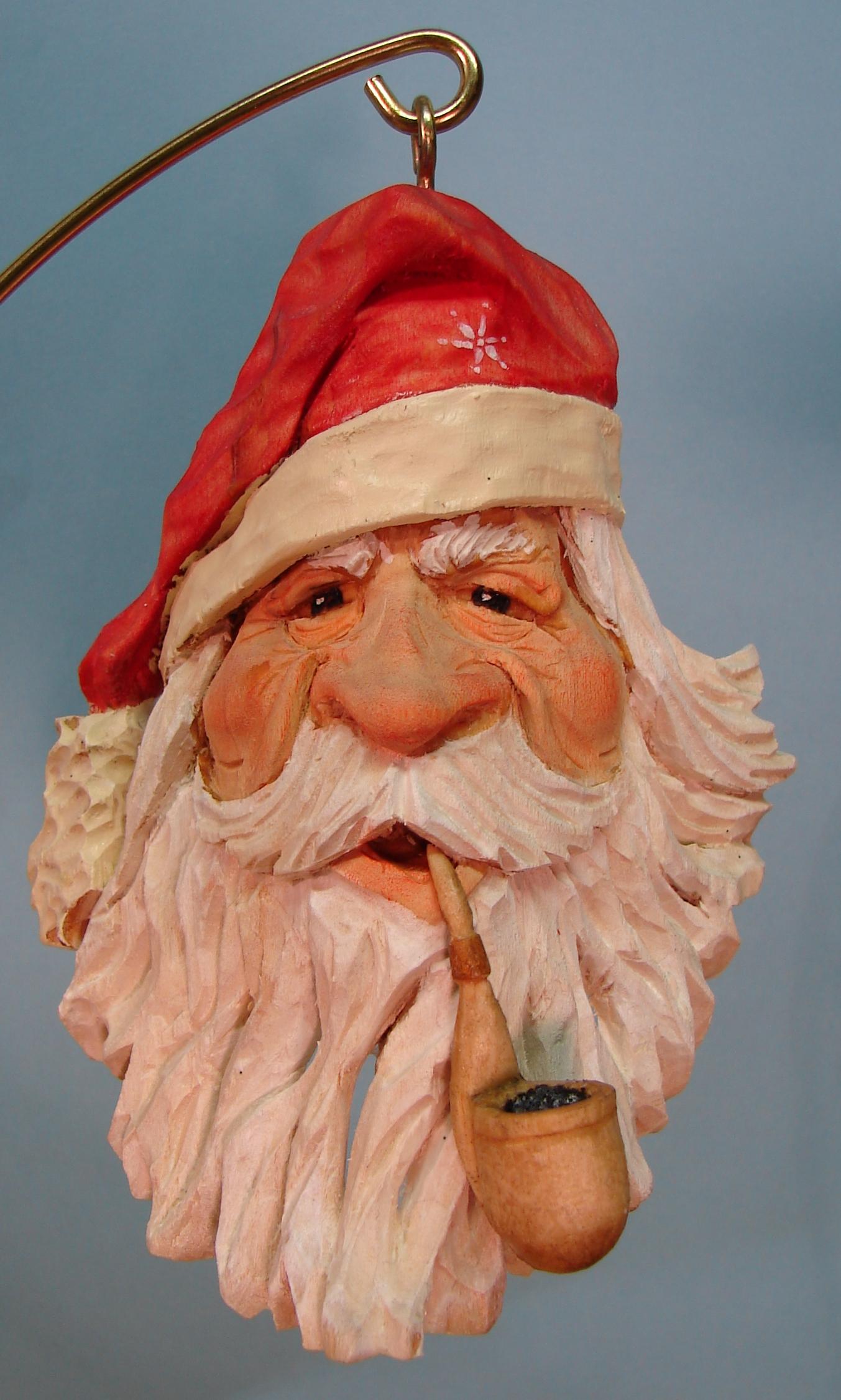 Santa Ornament: Basswood (SOLD)