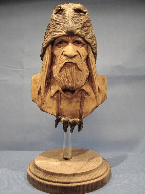 Mountain Man blank carving kit. $15.00 each. Basswood blank measures 5 1/2 inches x 3 3/4-inches x 1 1/2-inches in depth. -