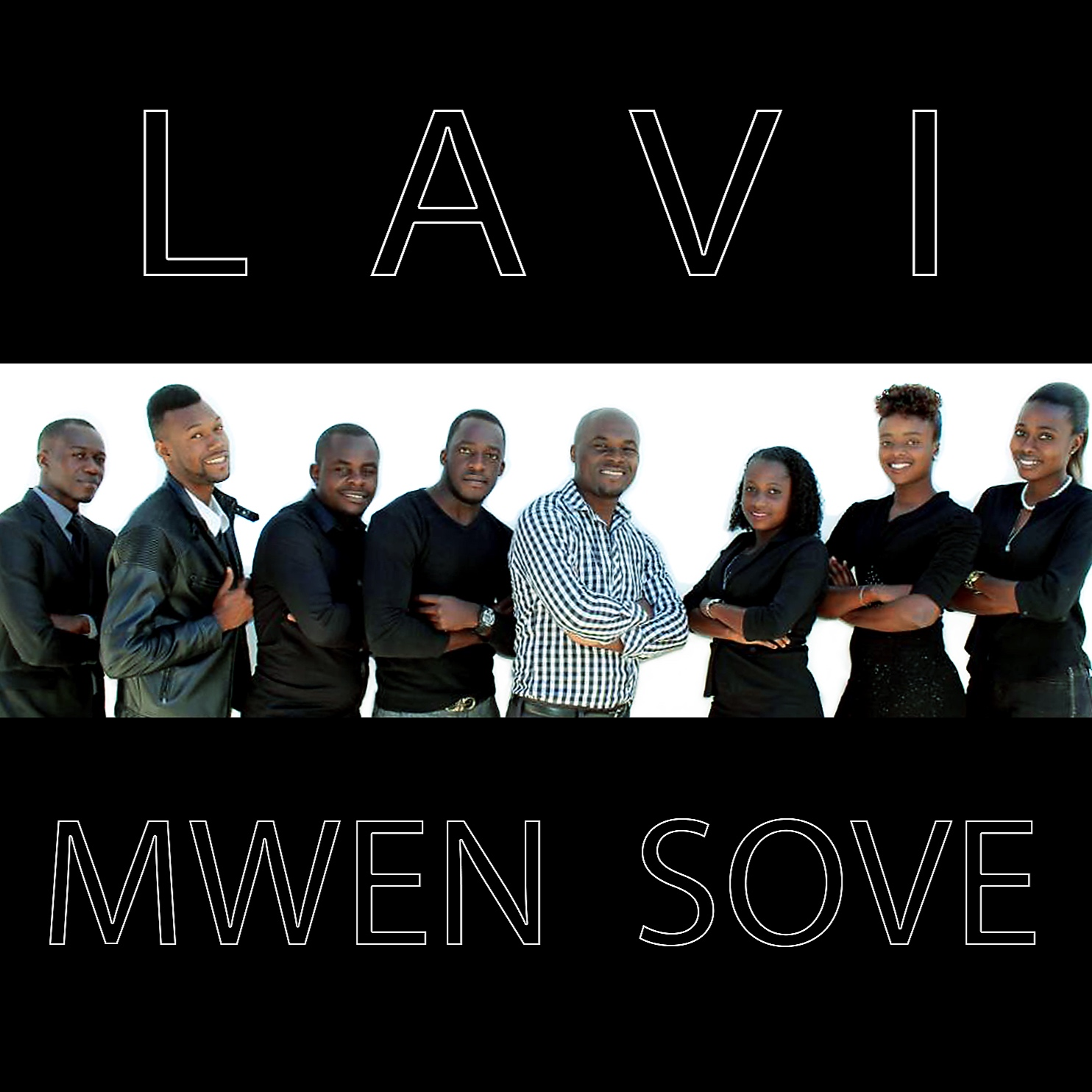 Stream Lavi on Spotify   ,    Apple Music   , or any digital retailer! Purchase at CDBaby!     L-R: Cazoul Paul-vocal;      Salomon Lirah (Salil)     -vocal, drums; Reginald Toussaint-guitar, vocal; Germano Charles-bass;      Ilbath Deshomme     -keys; Loudmya Maurice-vocal; Deborah St. Fort-vocal; Tachiana Casimir-vocal