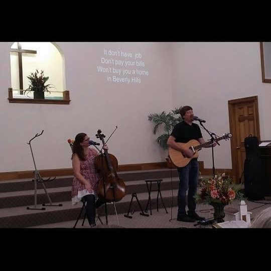At Colesburg Baptist yesterday. Thanks for the great pic Devi!