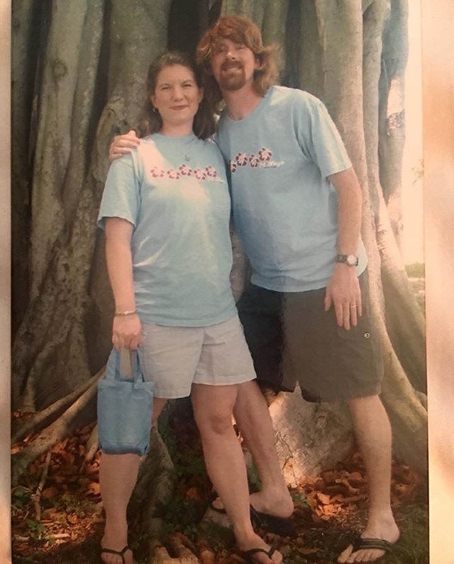 Taken during our 2004 Summer leading worship for M-Fuge in West Palm Beach FL. Back when we were both beautiful! Joanna stiil is! #notawig