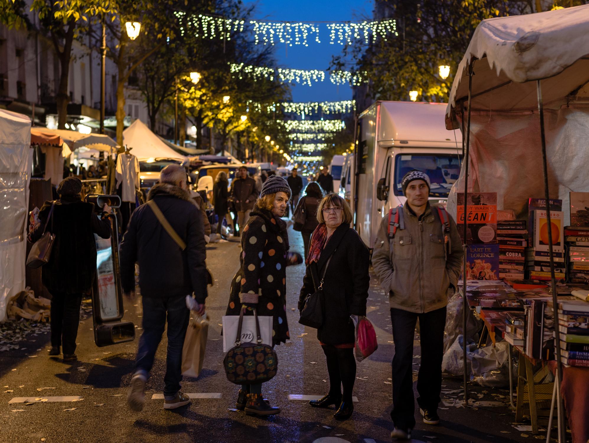 Sunday evening street markets in the Marais