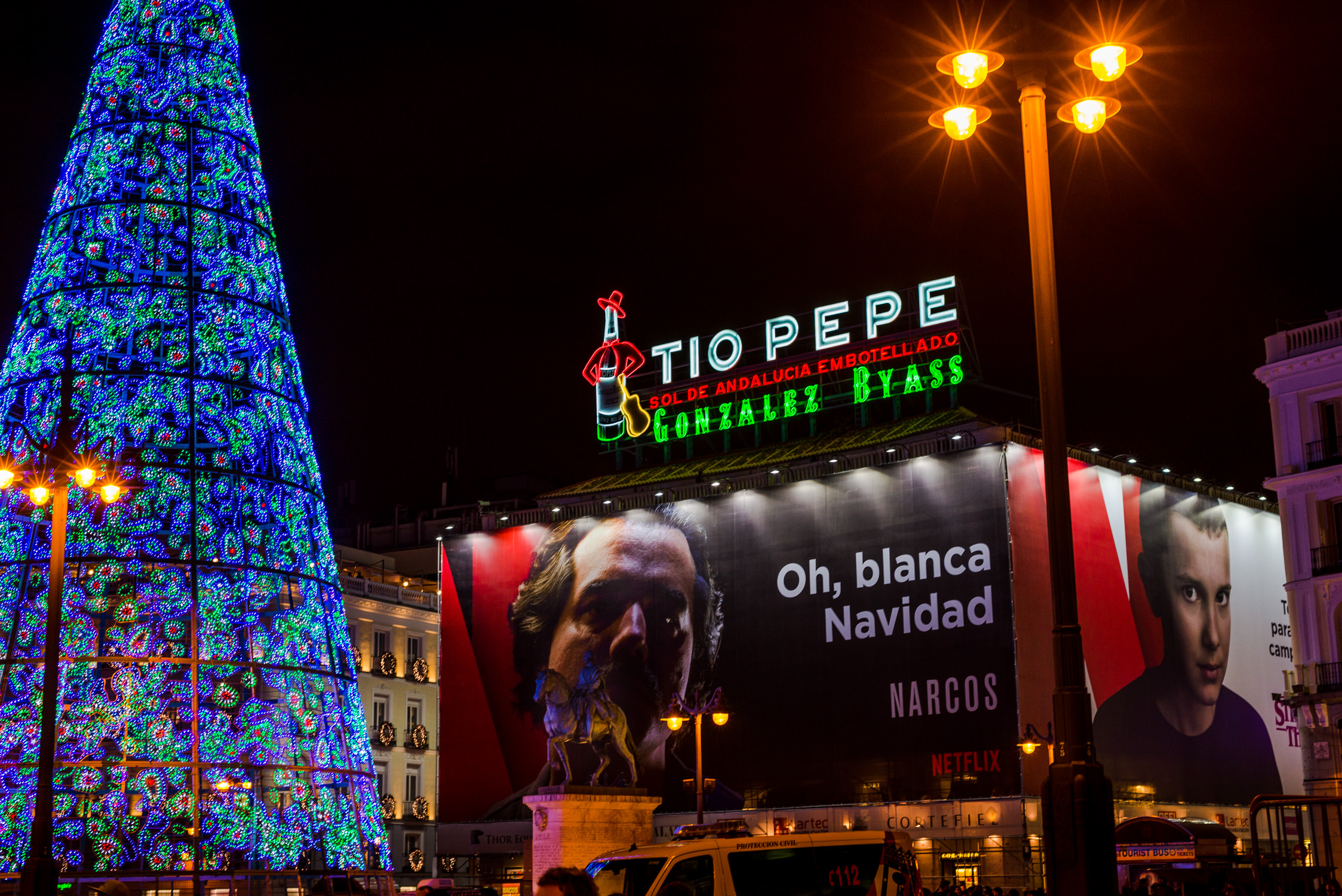 Tio Pepe sign in Puerto del Sol. As iconic as the Coke sign in Sydney's Kings Cross