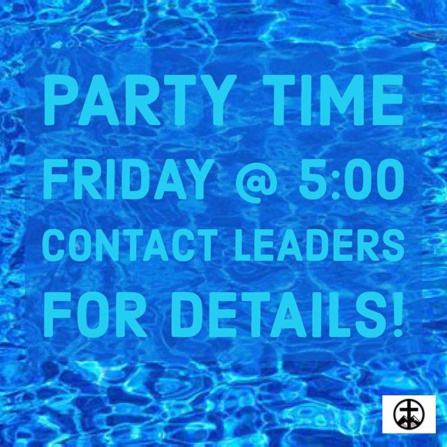 We will be having a pool party tomorrow at 5PM at the Costa's! Contact your leader or DM us for details!