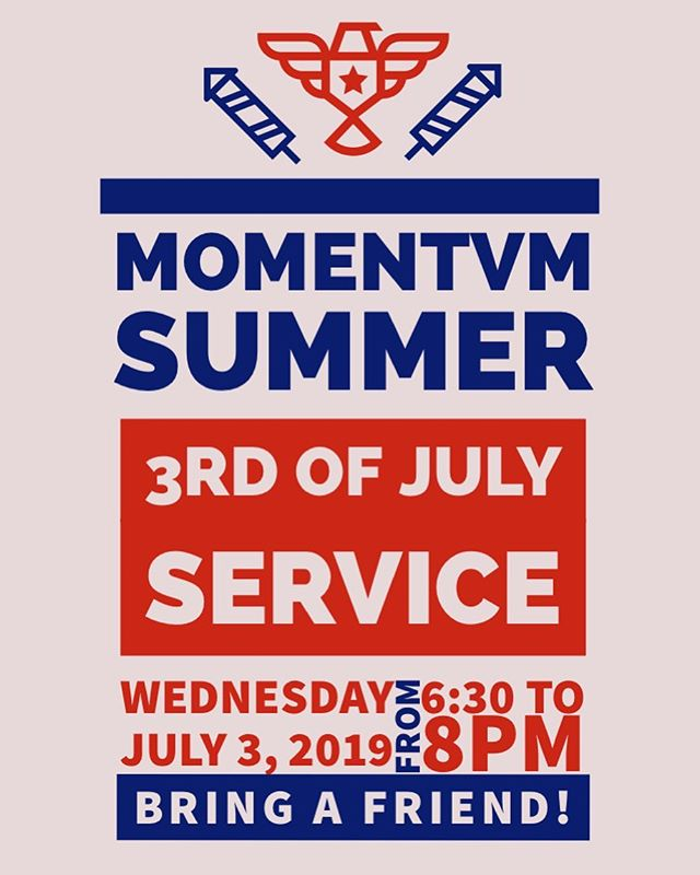 We will have service on the 3rd! Bring some friends and let's play games and have fun!  #momentvm #youth #ministry #summer #fun
