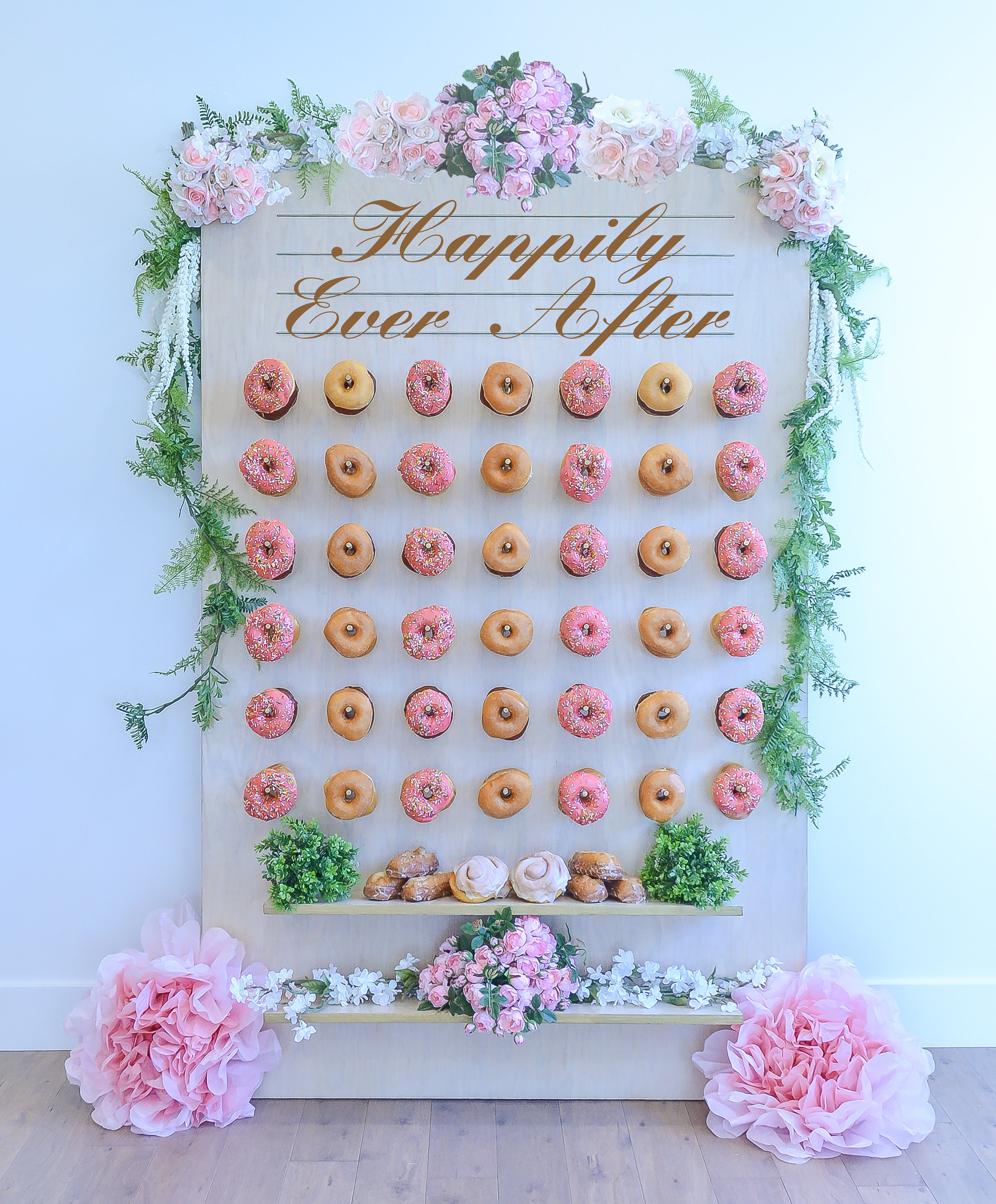 Happily Ever After Wedding Donut Wall || Primo's Donuts Los Angeles