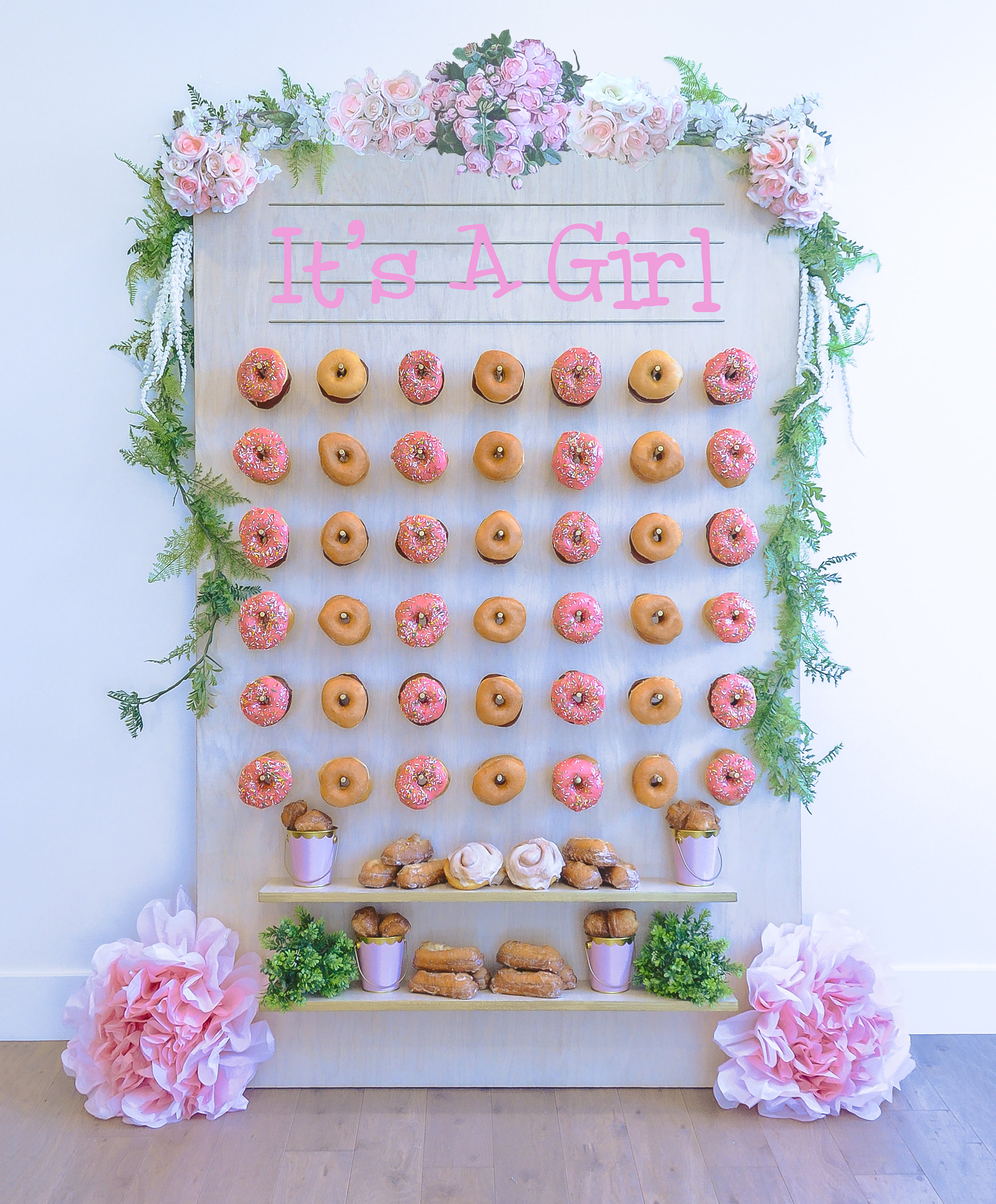 It's a Girl-- Baby Shower Donut Wall || Primo's Donuts Los Angeles