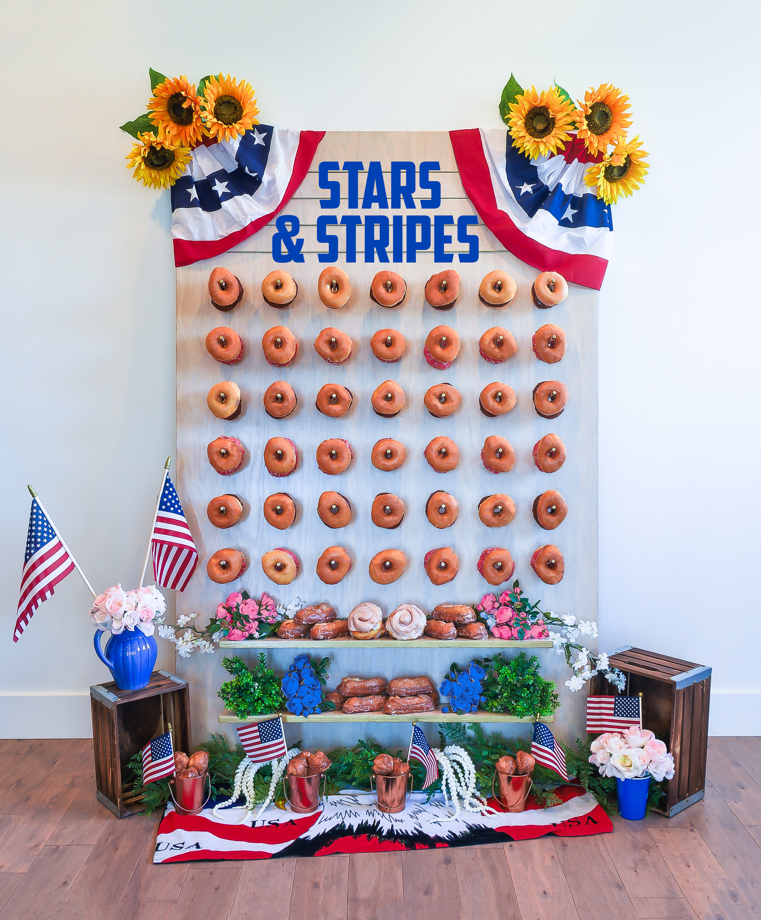 4th of July America Patriotic Donut Wall || Primo's Donuts Los Angeles