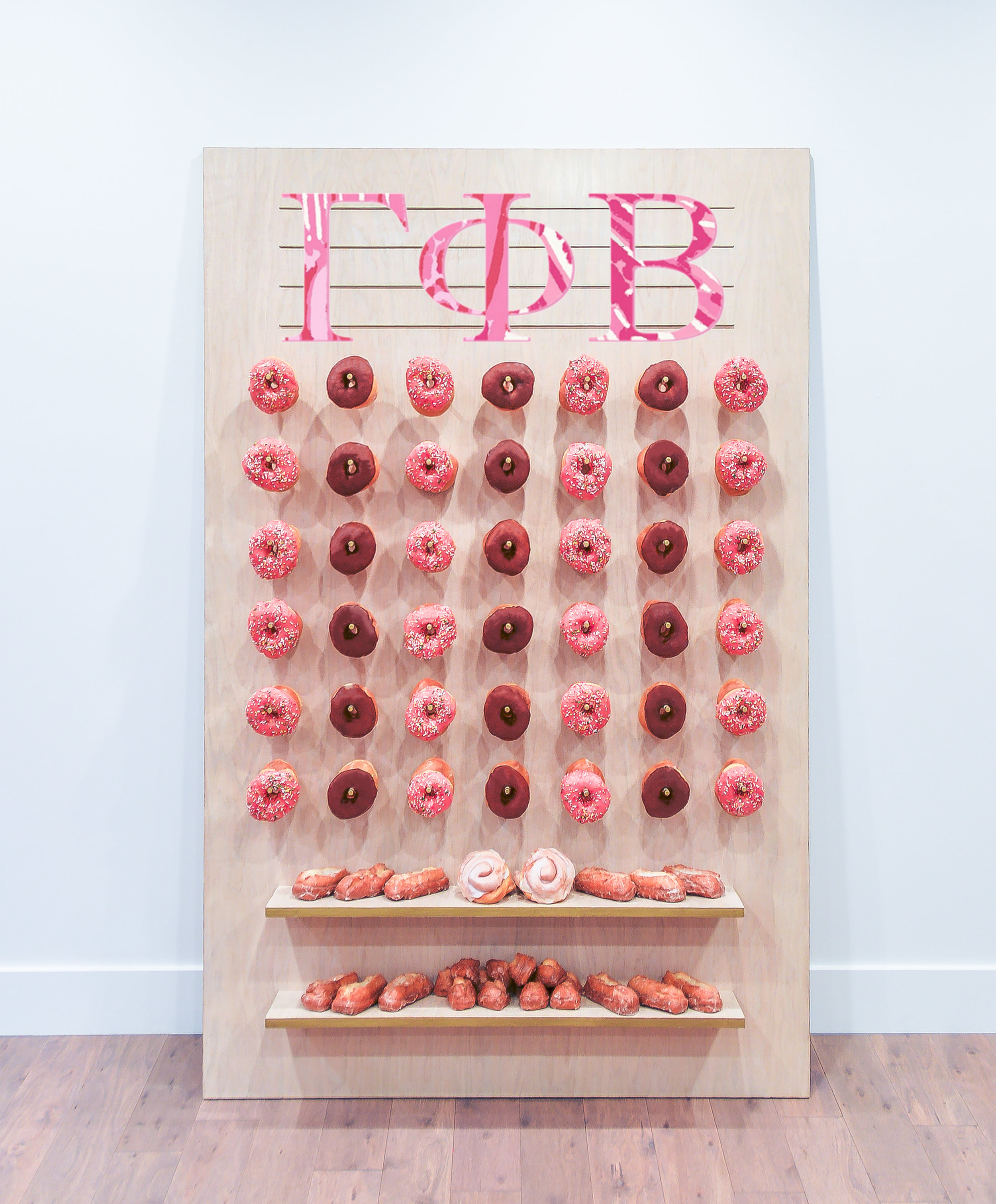 Sorority Rush Donut Wall, Gamma Phi Beta || Primo's Donuts Los Angeles