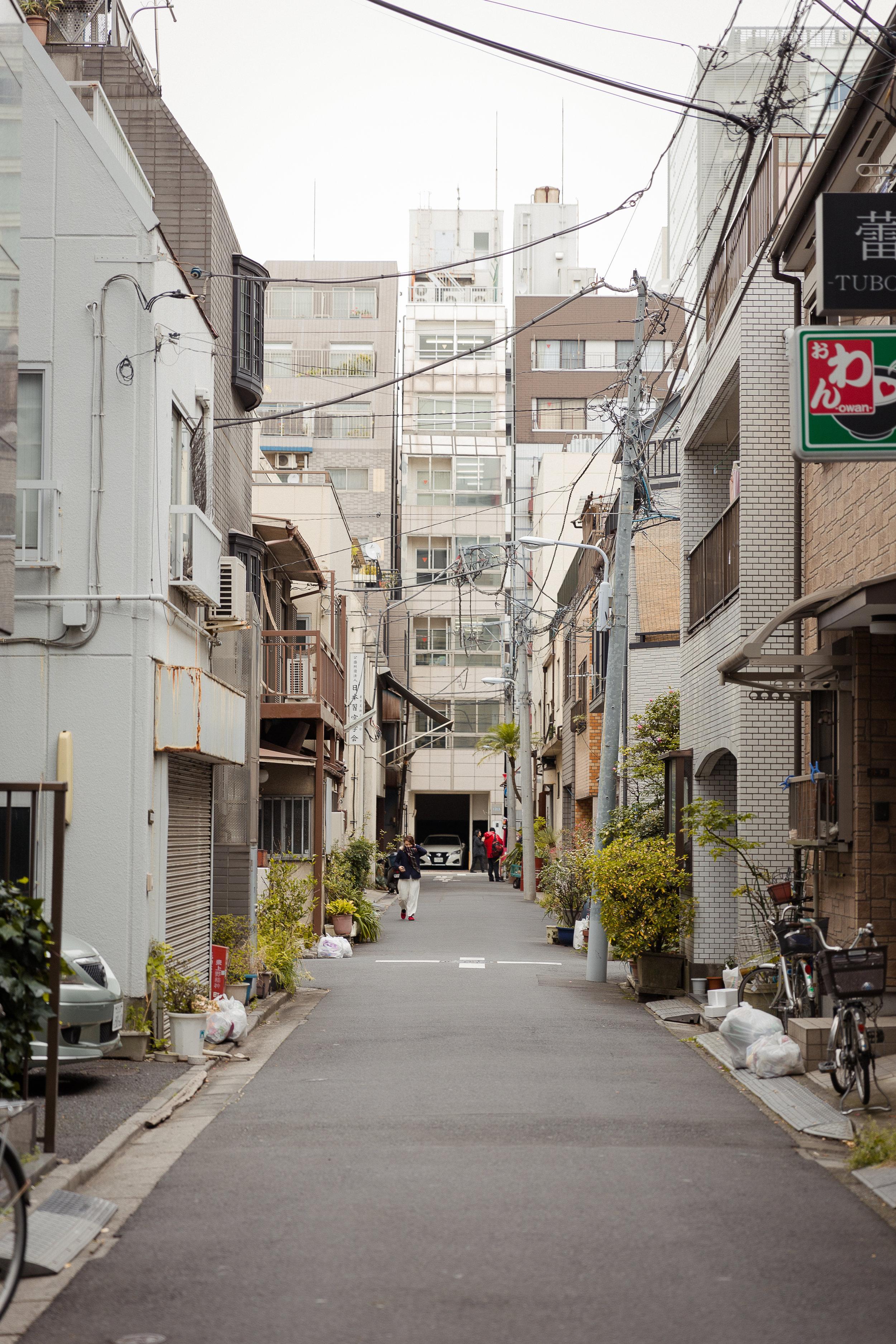 Streets in Asakusa, Tokyo Japan
