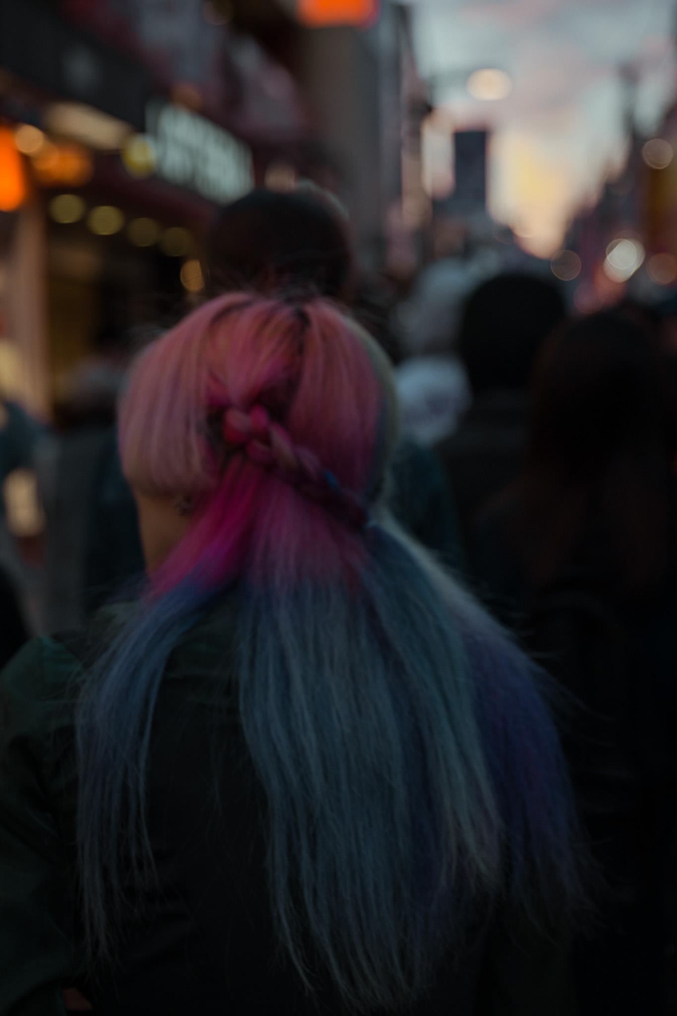 Harajuku Girl with coloured hair