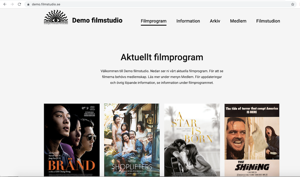 Demo Filmstudiowebb