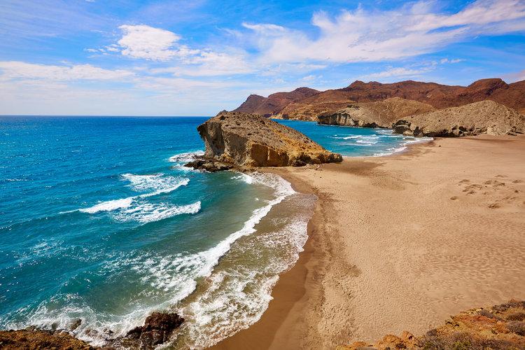 Parque Natural de Cabo de Gata (Almería) - Playa de Mónsul.