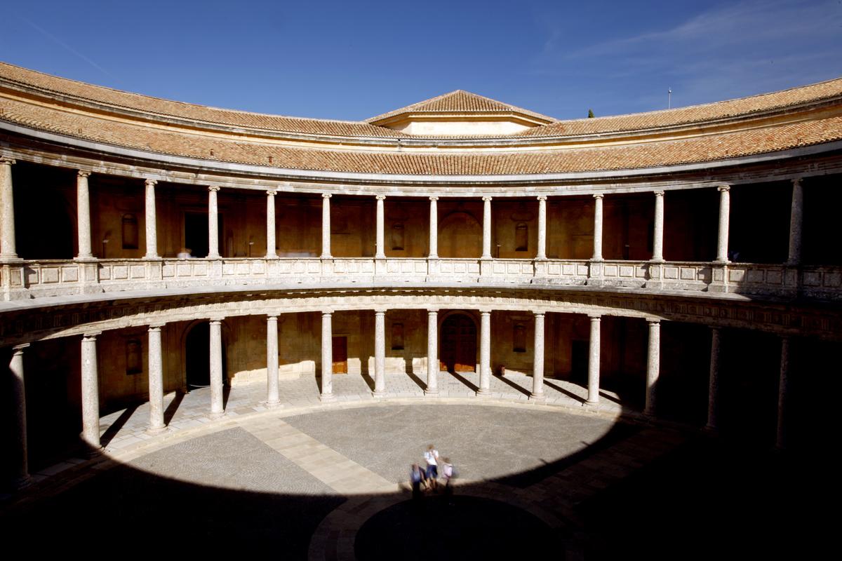 La Alhambra de Granada - Interior del Palacio de Carlos V