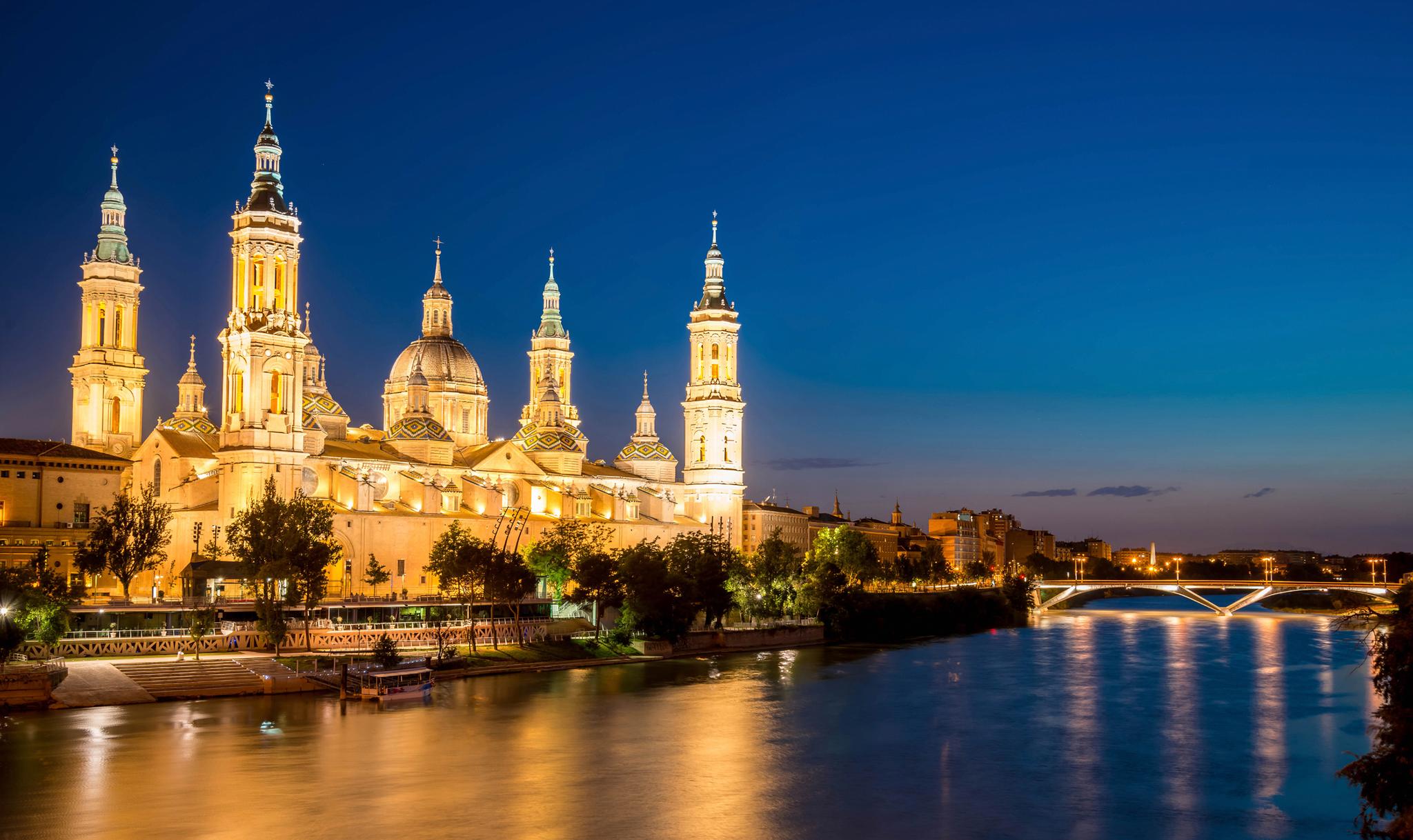 Qué ver en Zaragoza - Atardecer desde el Puente de Piedra