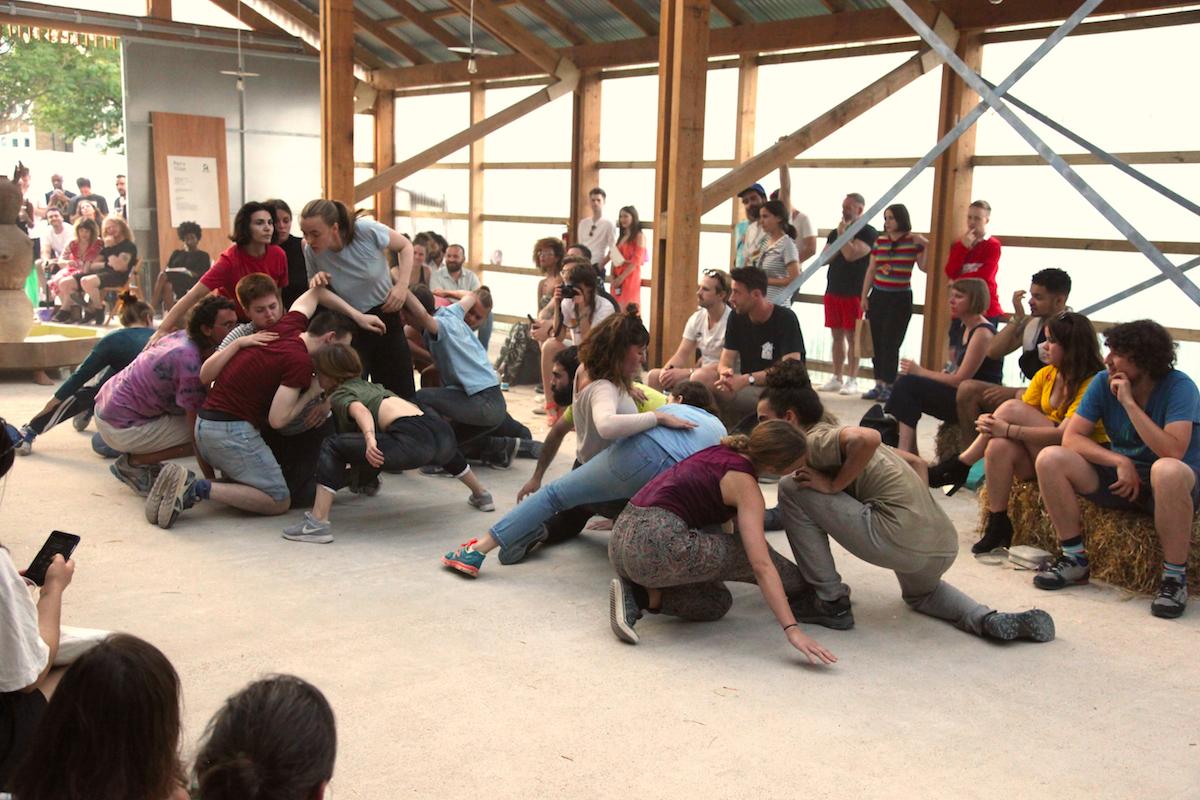 I_9417b_Sasha Pirogova, Shift, 2018, performance, Pervilion. Photo by Ottilie Landmark, courtesy Dorothy Feaver.JPG