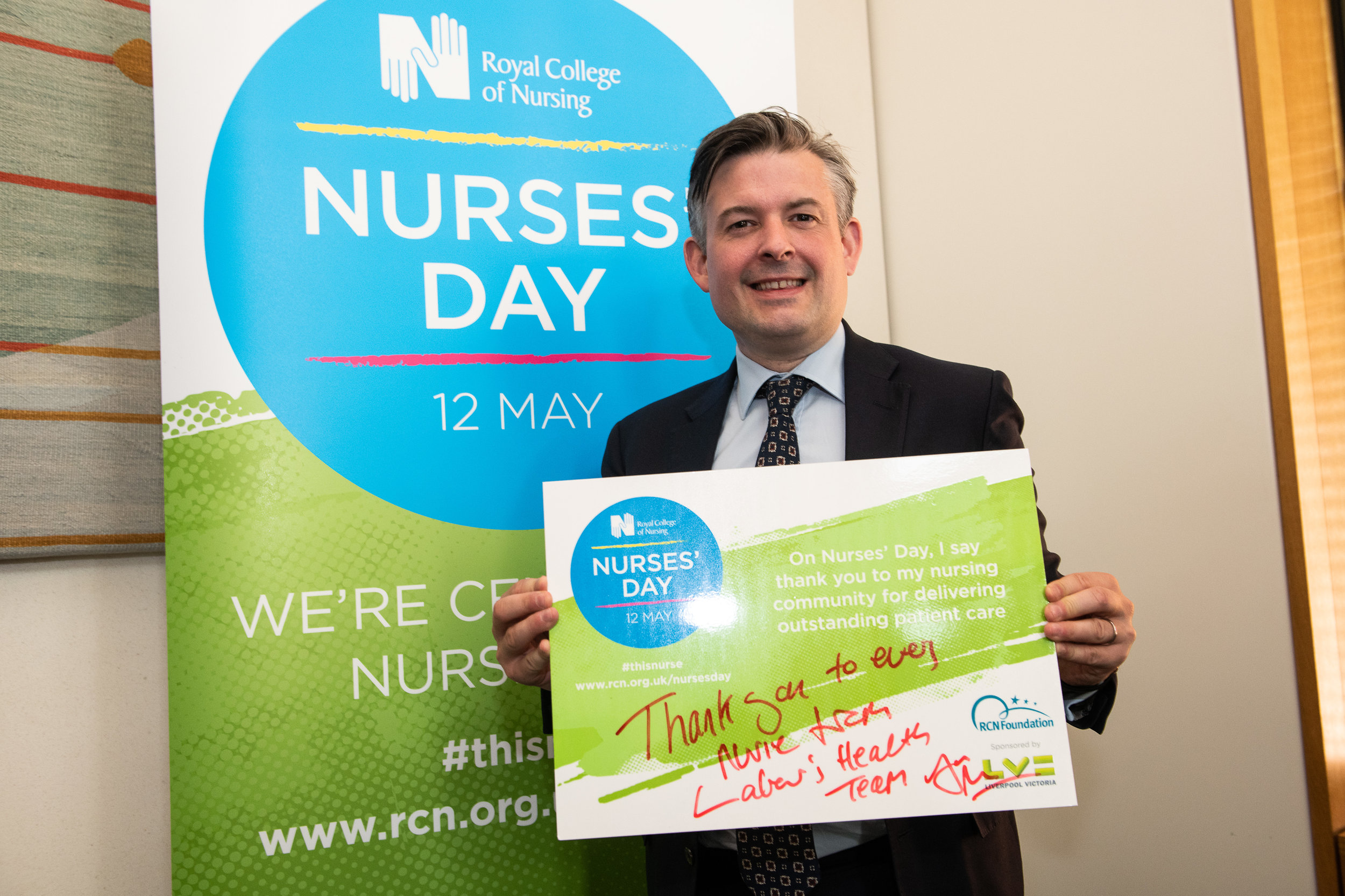 Jon Ashworth, Labour MP for Leicester South, celebrates the work of nursing staff in the UK and around the world - Monday April 30 2018