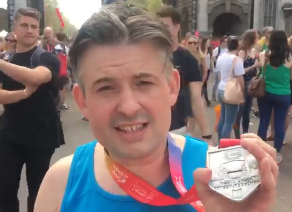 Jon completes London Marathon and raises over £8,000 for Children of Alcoholic's Charity - Monday April 23 2018