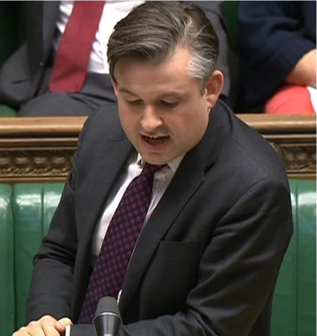 Jon Ashworth MP raises the plight of his constituent caught up in the Windrush Scandal - Monday April 23 2018