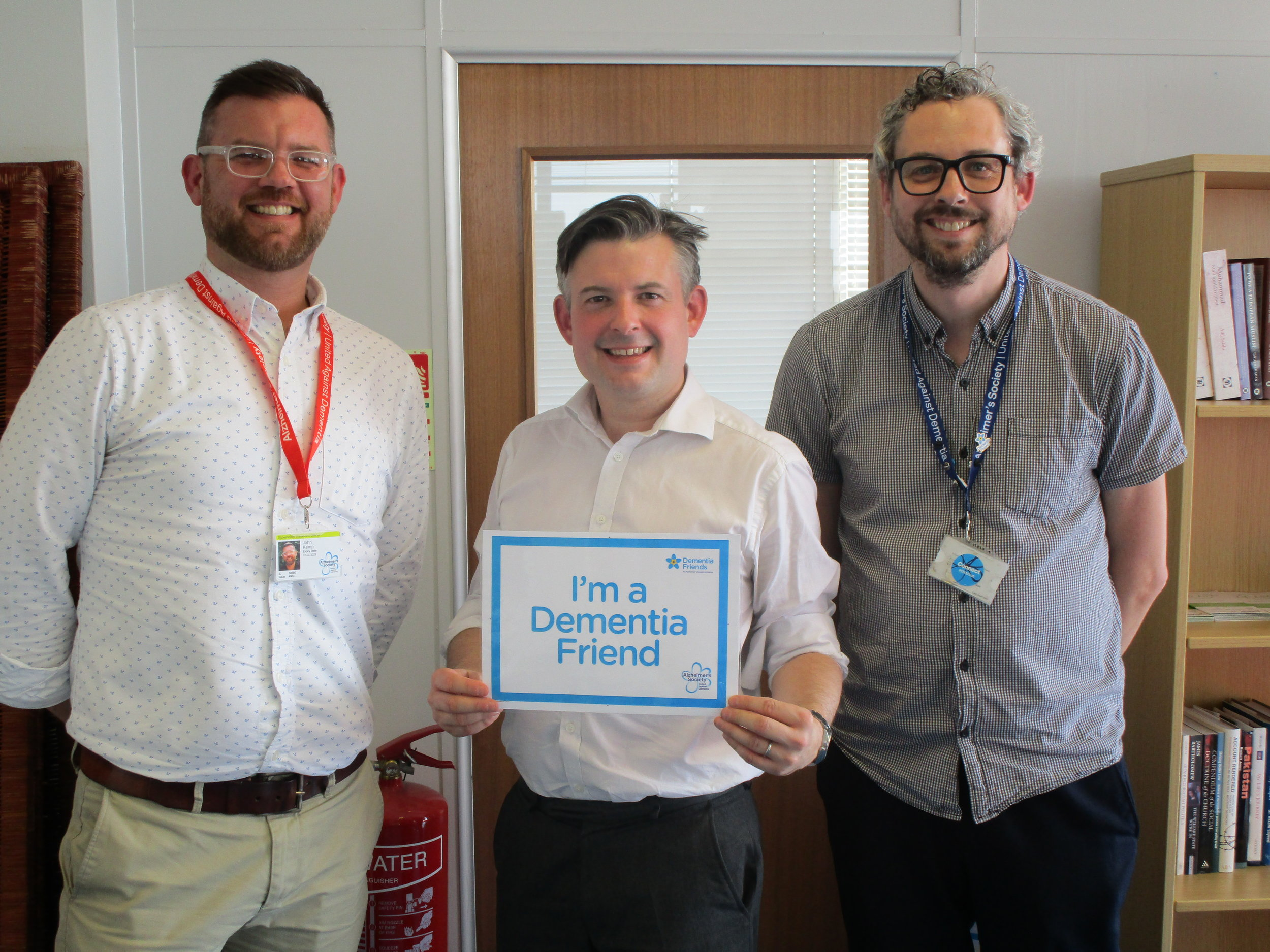 Jonathan Ashworth, Shadow Secretary of State for Health, took part in a Dementia Friends information session organised by Alzheimer's Society - Friday April 20 2018