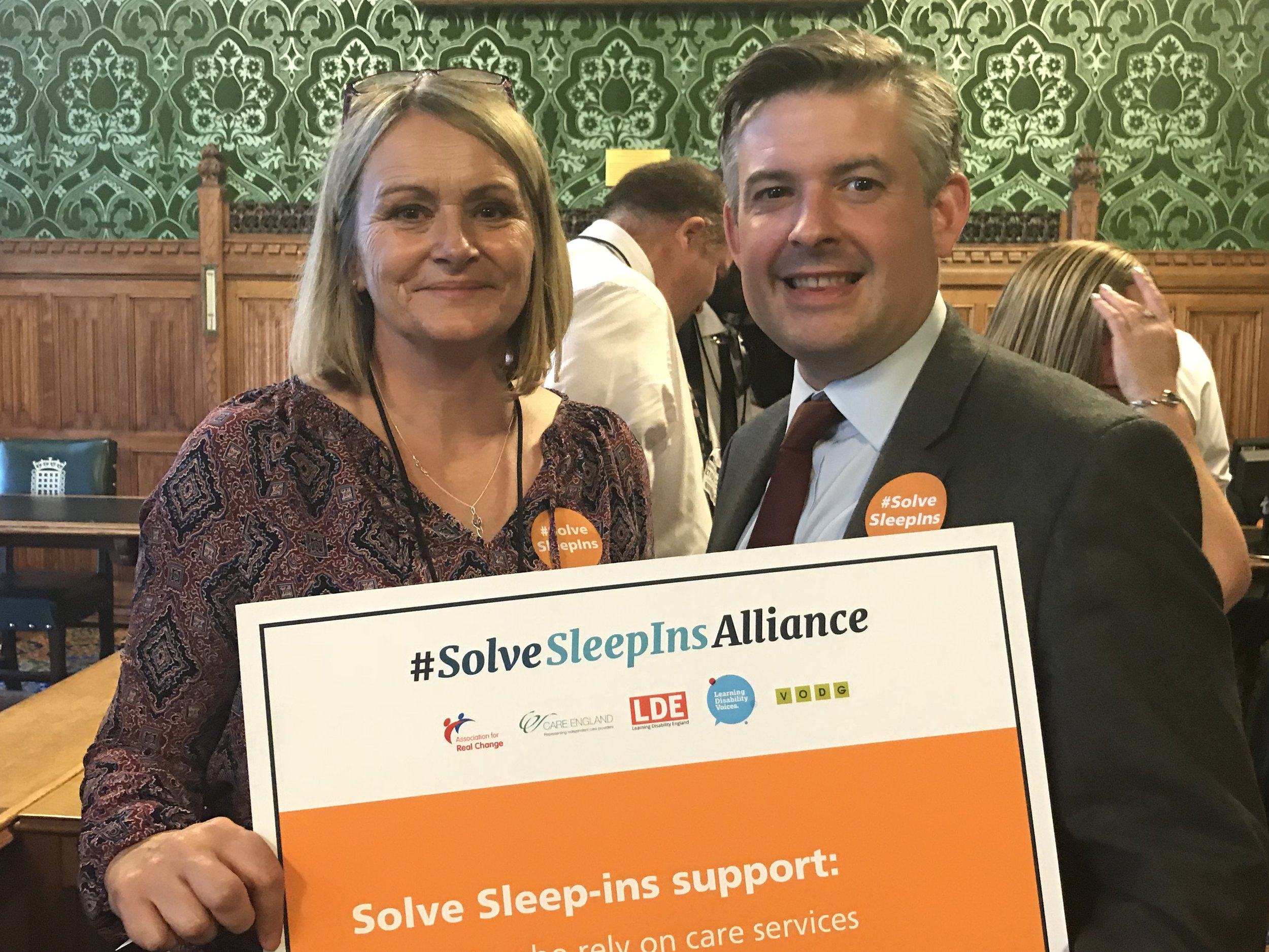 Jon Ashworth, Shadow Health Secretary, attends #SolveSleepIns Alliance Day of Action to ask the Government to solve the sleep-in crisis - Wednesday June 27 2018