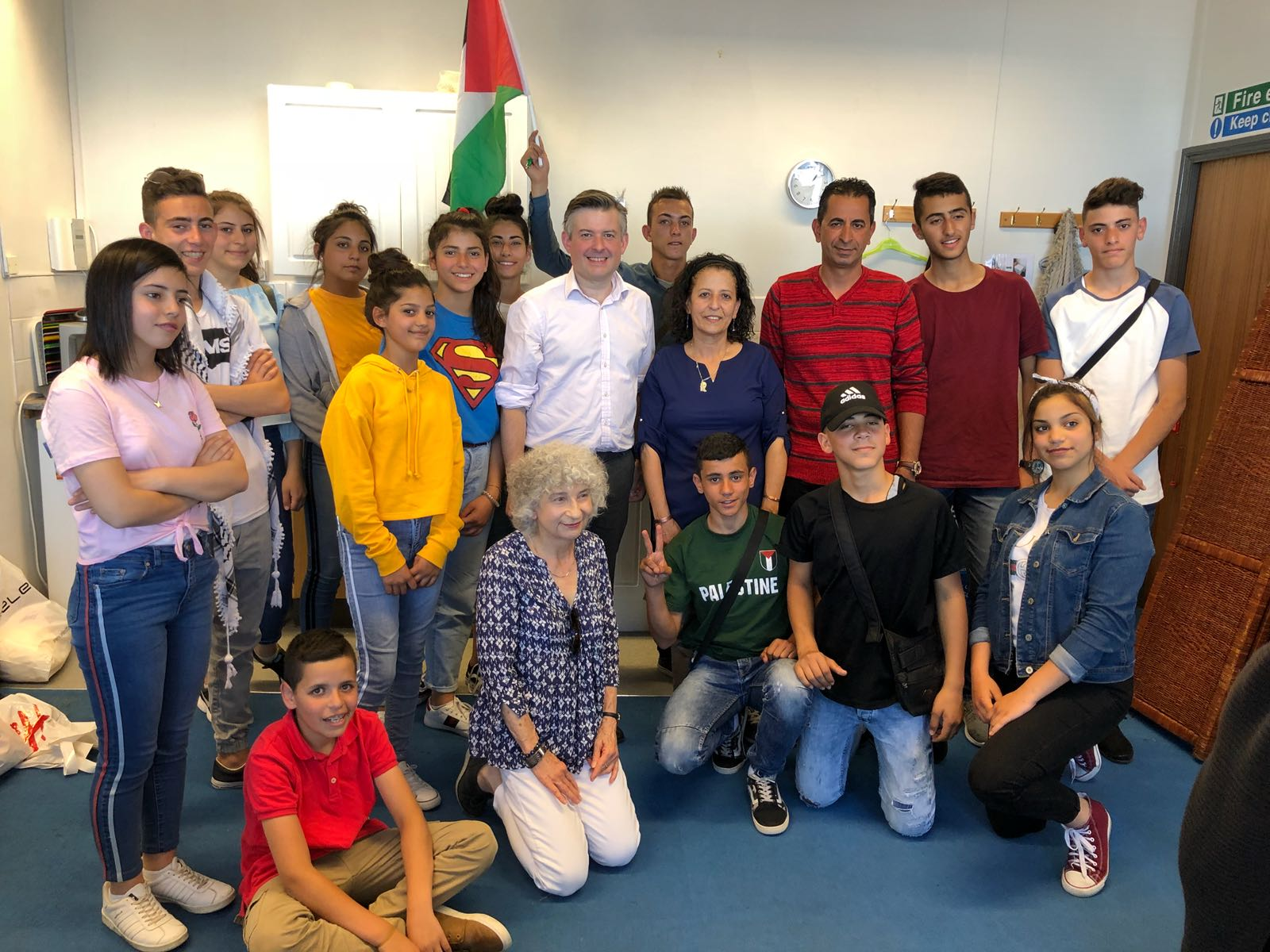 Jon Ashworth met inspirational young people from the Hakaya Band which is part of the Ghirass Cultural Centre in Bethlehem - Friday June 29 2018