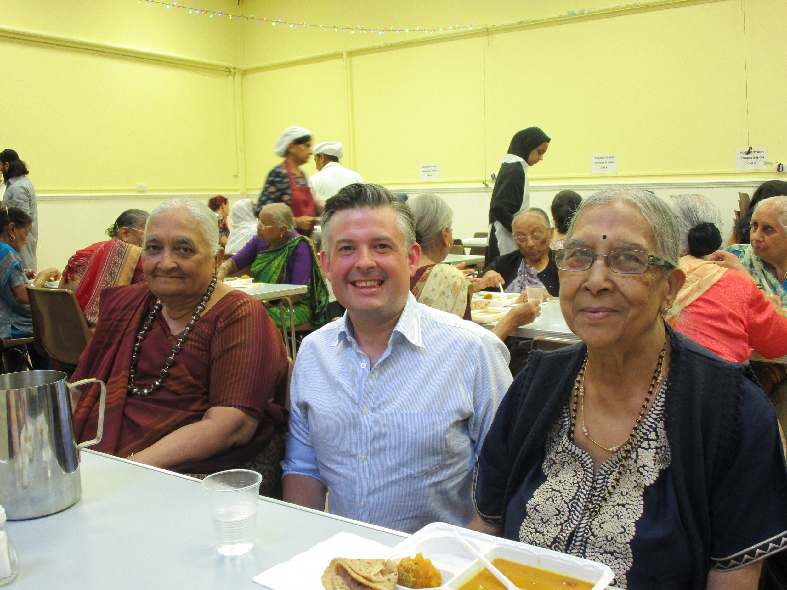 Jon Ashworth, Labour MP for Leicester South, visits Wesley Hall Elders Lunch Club and meets old friends and makes new ones - Fiday 27 july 2018