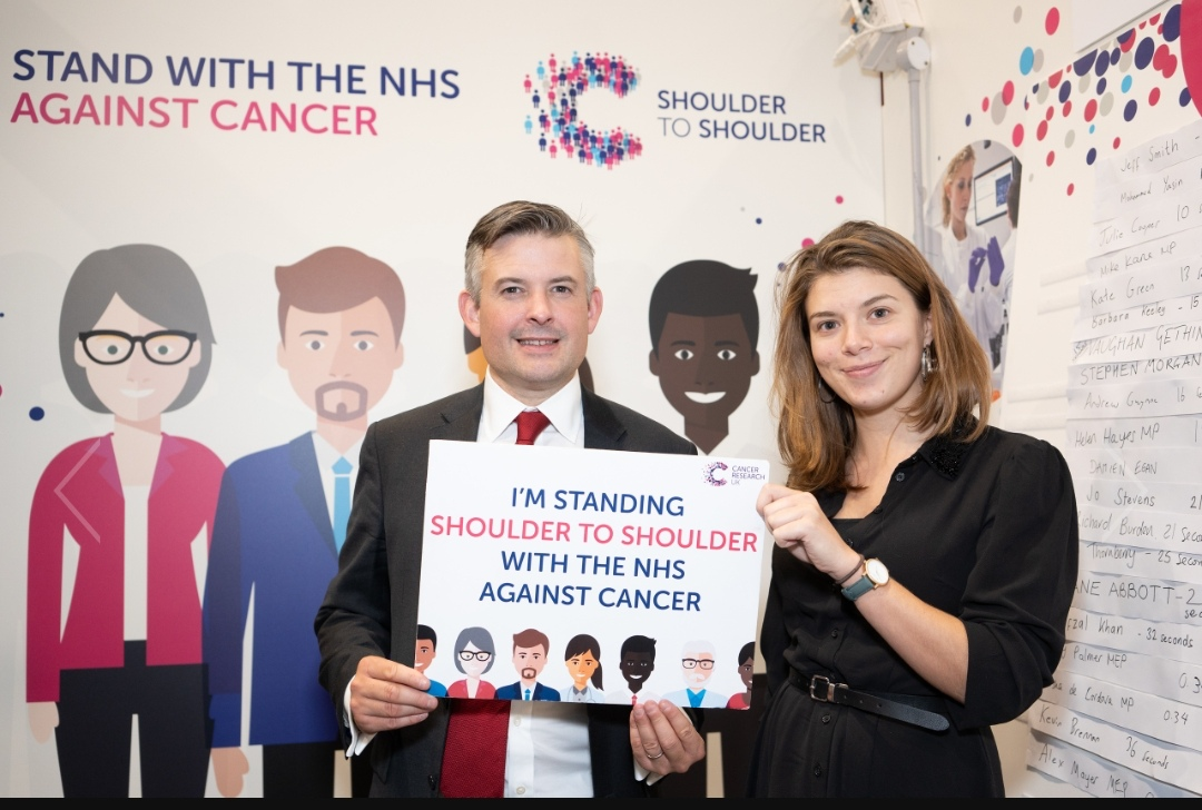 Jon is backing Cancer Research UK's appeal for more NHS staff to deliver the life-saving cancer tests and treatments people need - Tuesday October 2 2018