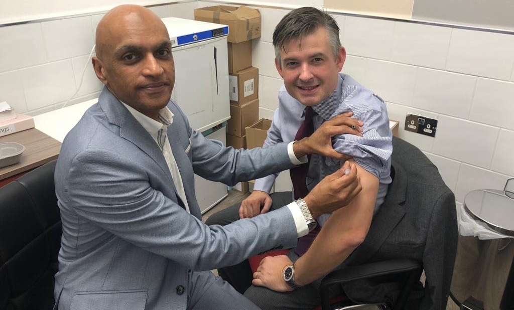 Jon had his flu jab at Yakub Chemist as part of the community pharmacy Flu Vaccination Service. Remember to get yours - Wednesday October 3 2018