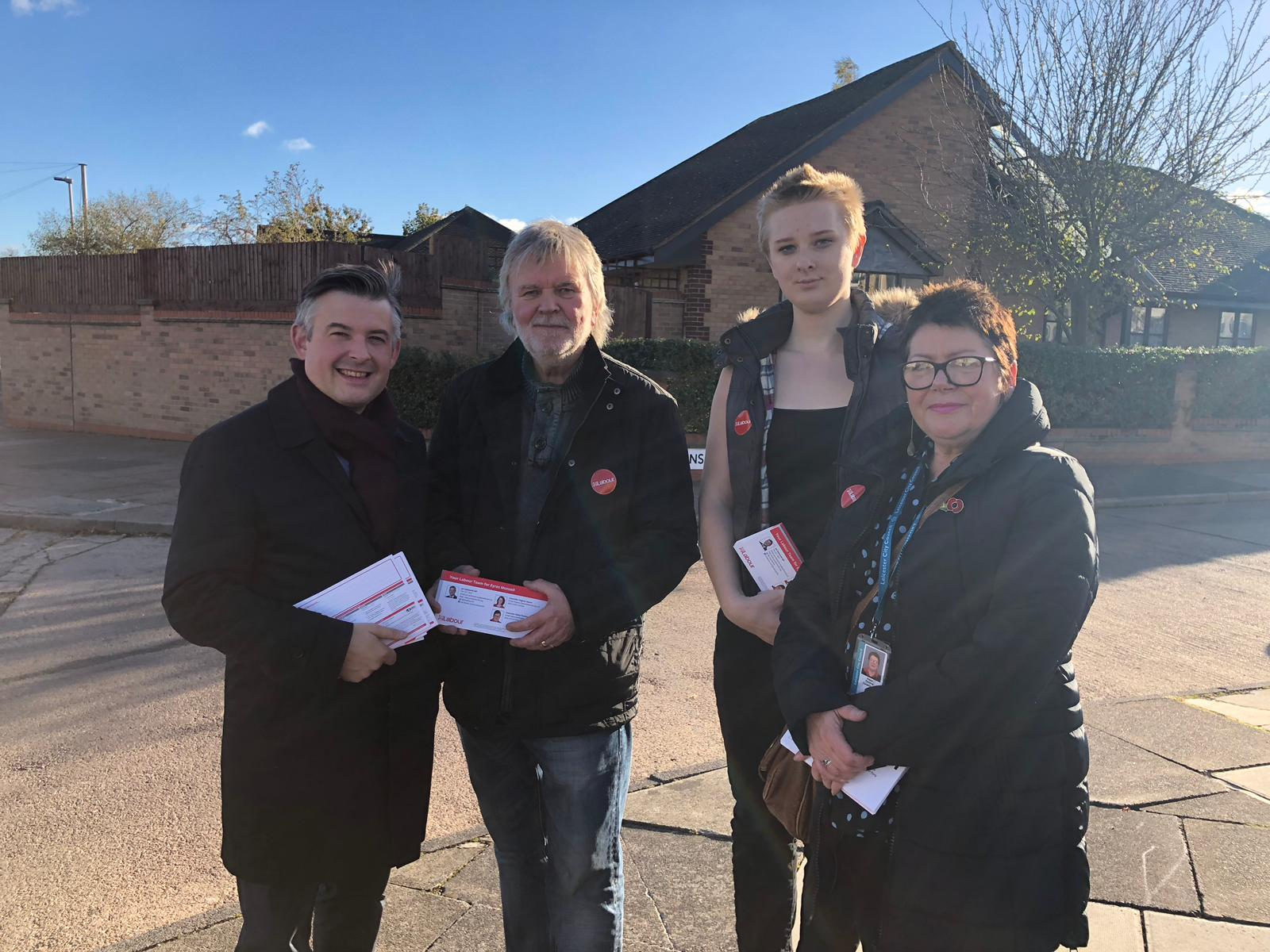 Jon and local Councillors have been out and about in Eyres Monsell today listening to concerns and doing what they can to help - Friday November 2 2018