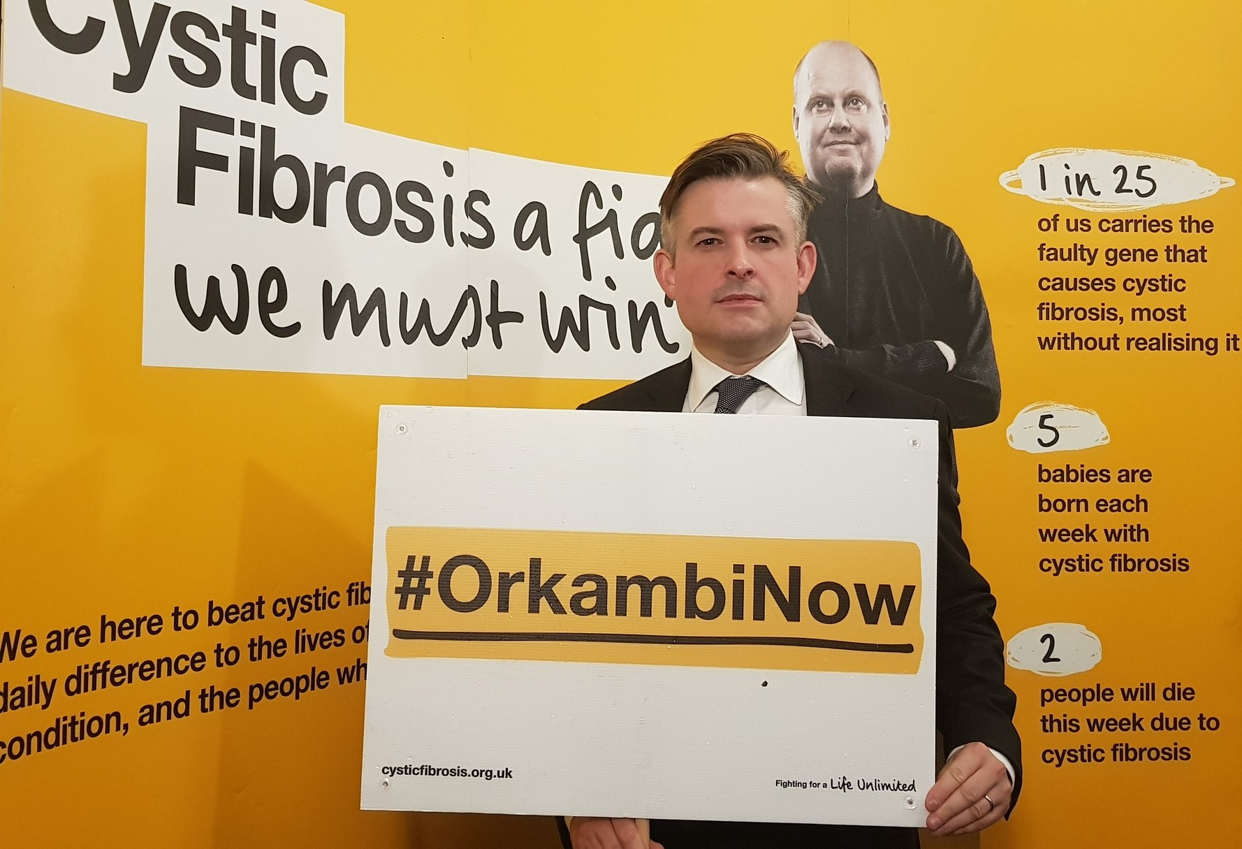 Jon joined MPs of all Parties calling to end the wait for access to Orkambi for people with cystic fibrosis in the UK - Monday November 19 2018