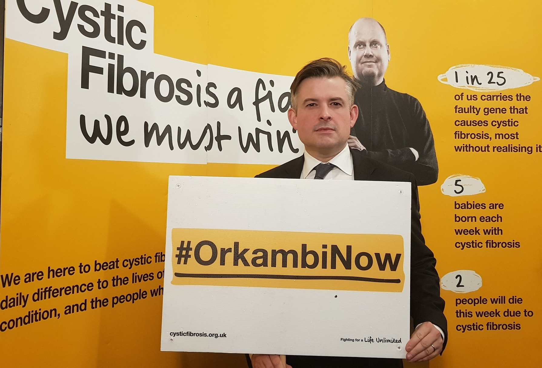 Jon joined MPs of all Parties calling to end the wait for access to Orkambi for people with cystic fibrosis in the UK - Wednesday November 21 2018