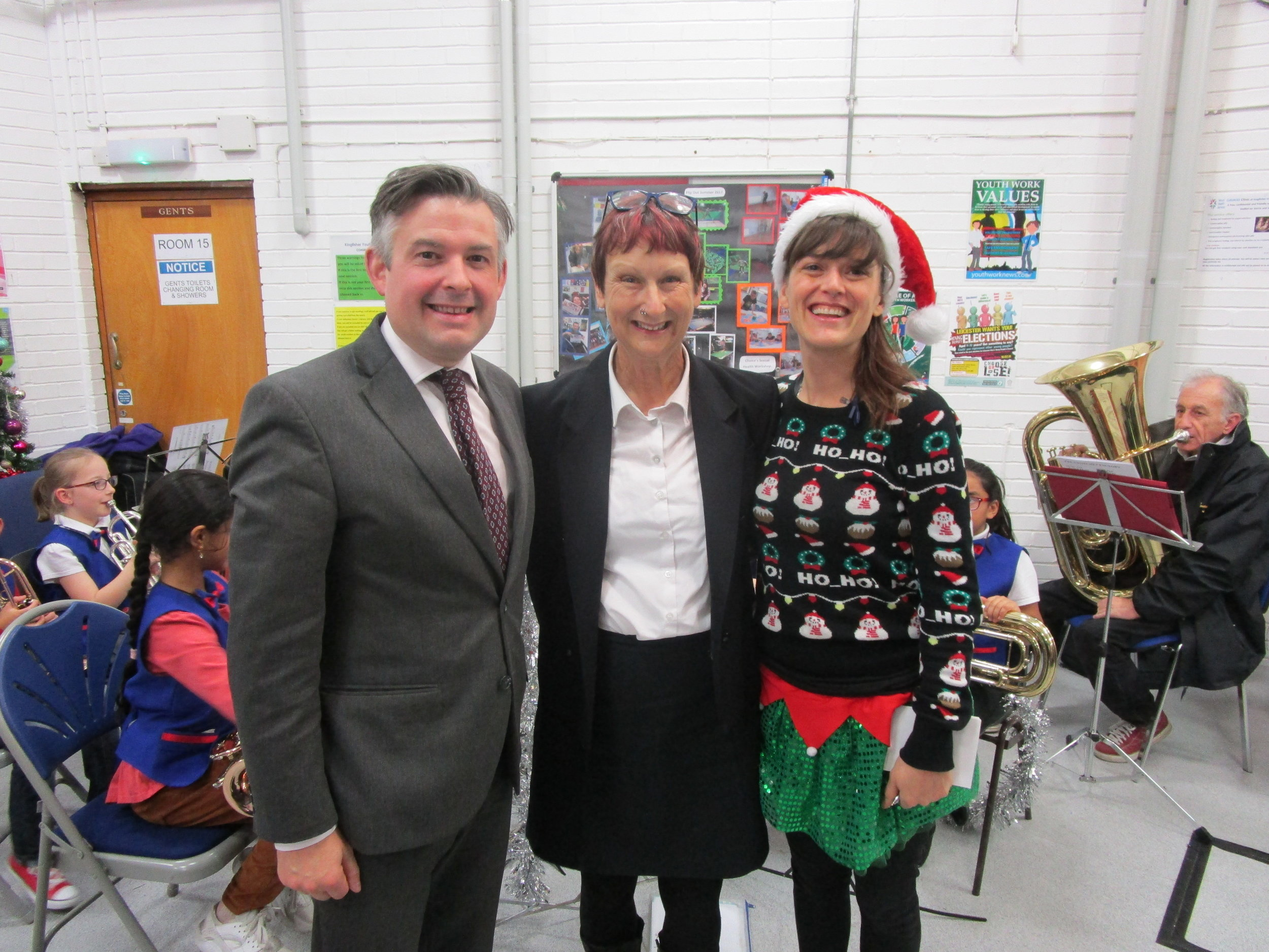 Jon opens the Saffron Christmas Celebration event which is organised by residents with help from local Councillors Elly Cutkelvin and Bill Shelton - Friday December 7 2018