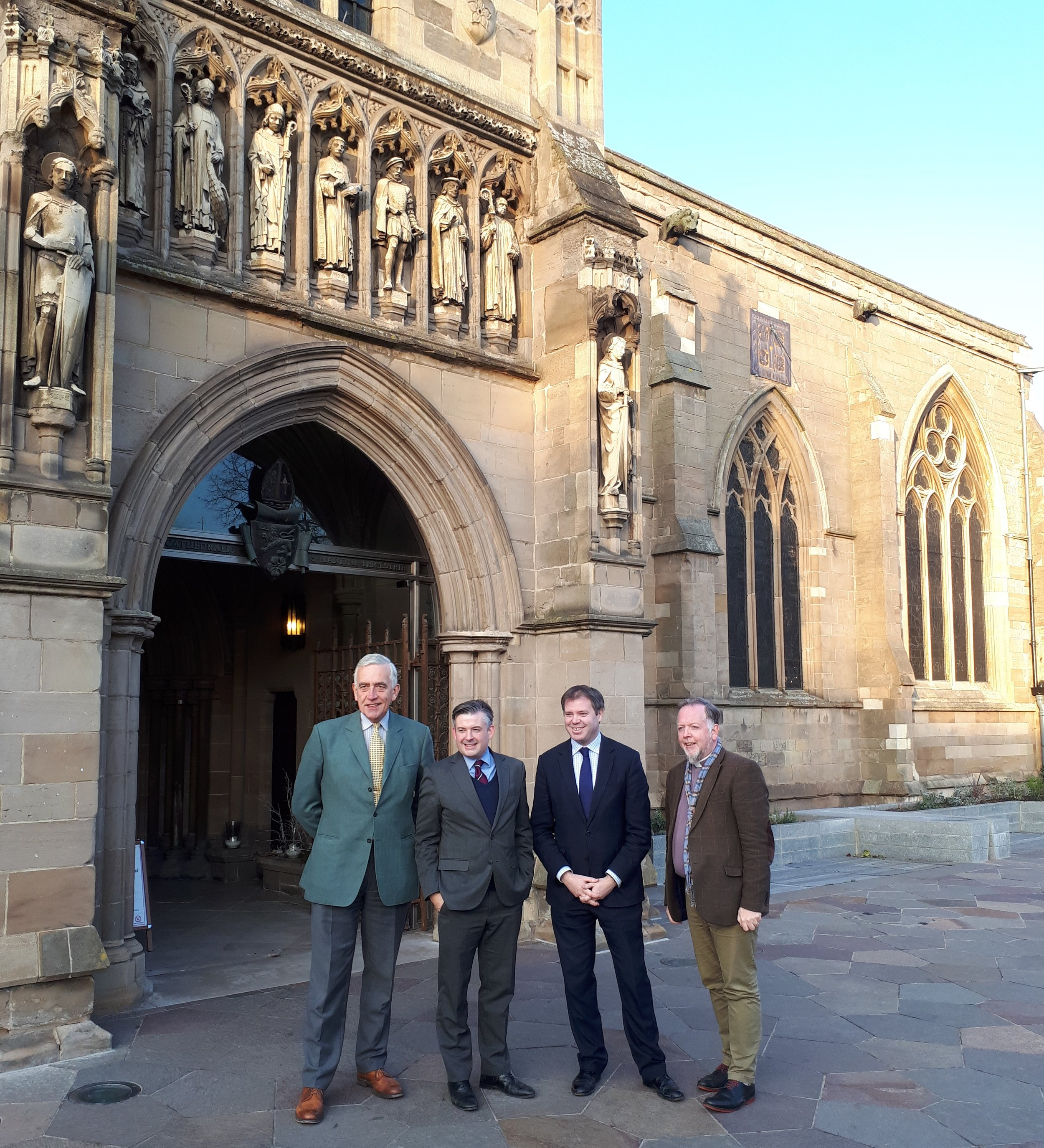Jon, along with Ed Argar MP, visits Leicester Cathedral to congratulate the Dean of Leicester on the progress of Leicester Cathedral Revealed - Friday December 14 2018