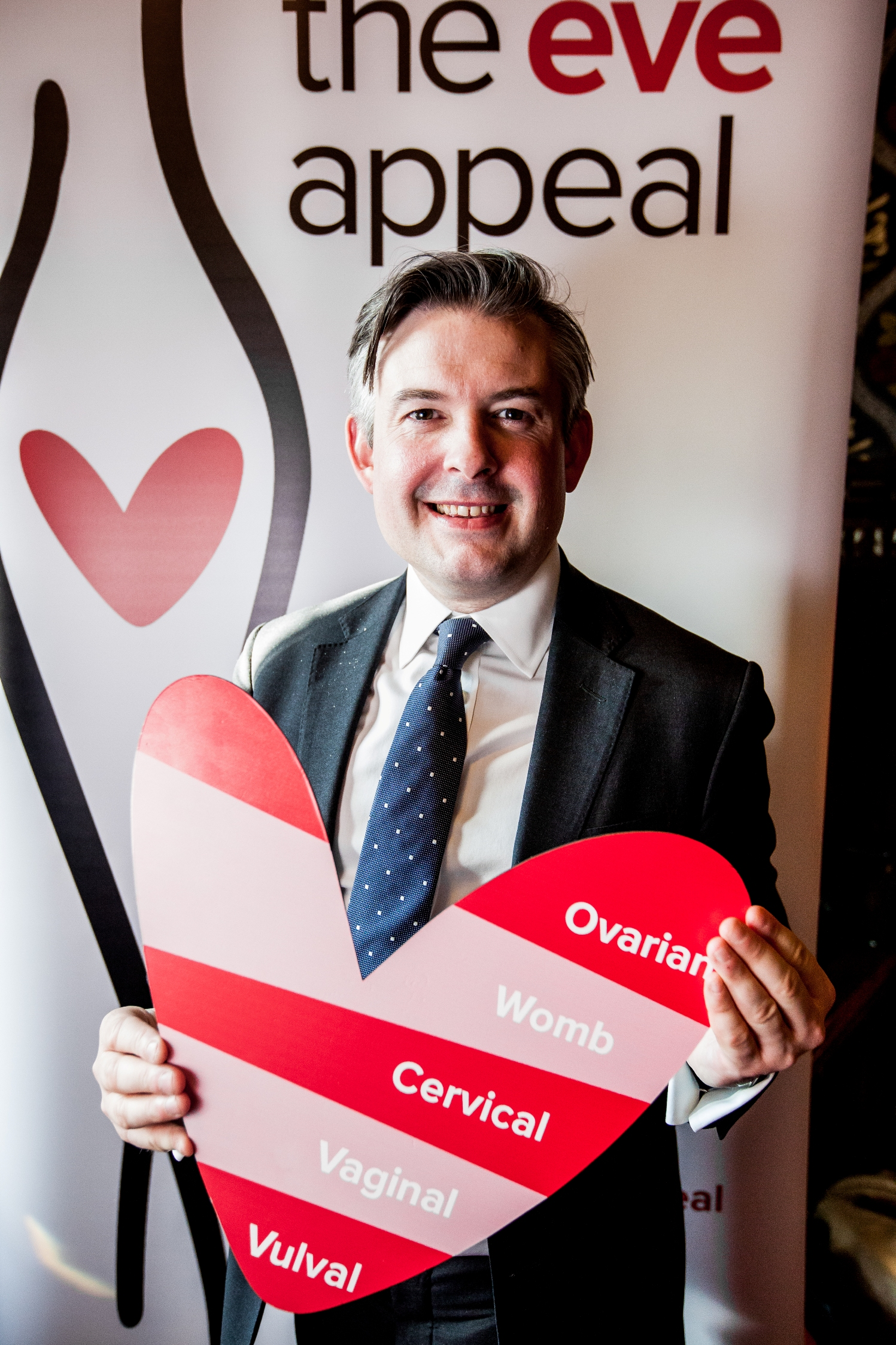 Jon at The Eve Appeal's launch of Ovarian Cancer Awareness Month which runs throughout March - Wednesday February 27 2019