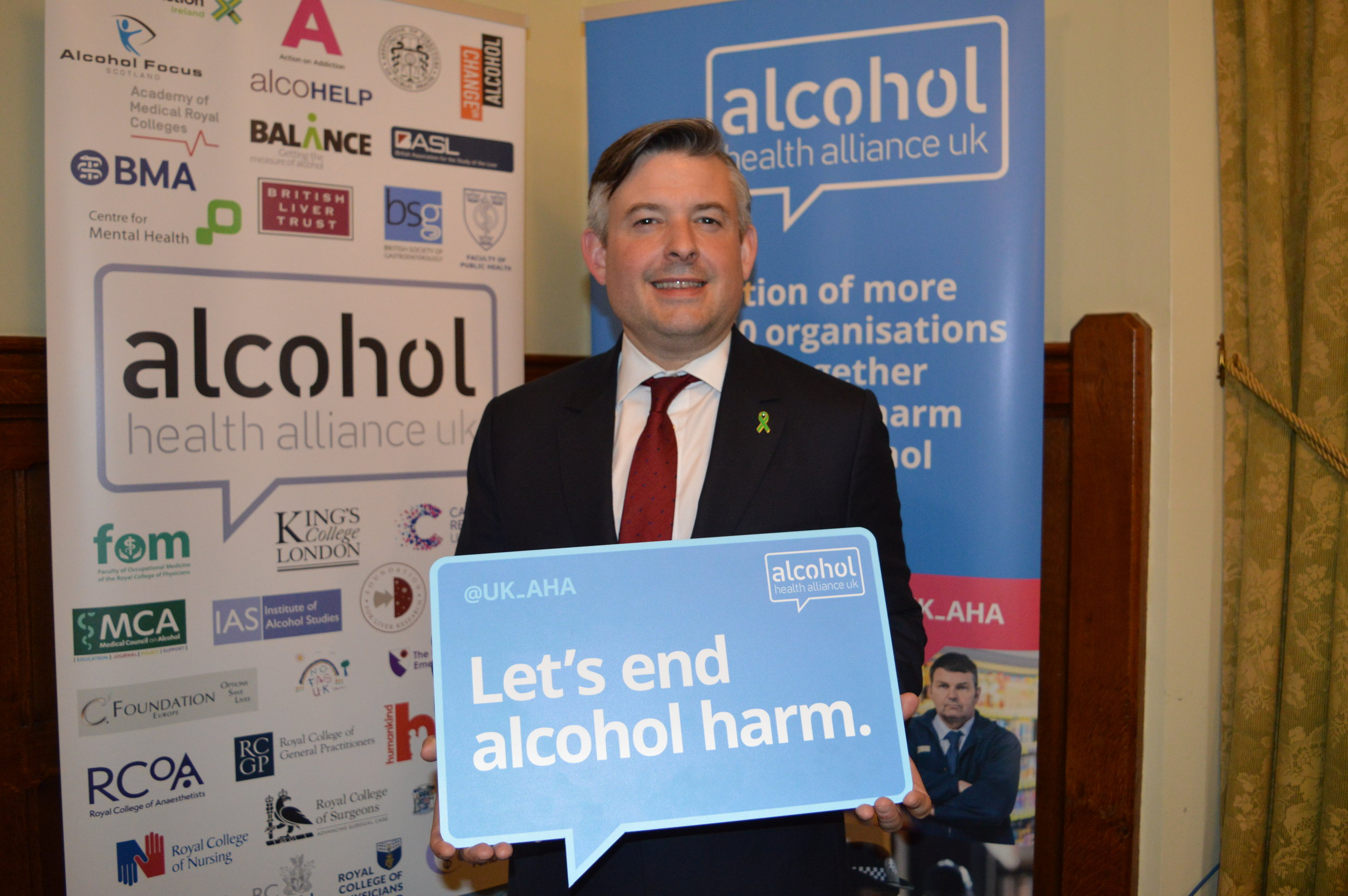 Yesterday Jon spoke at the Alcohol Health Alliance UK event to celebrate the recent strides forward in alcohol policy - Wednesday May 15 2019