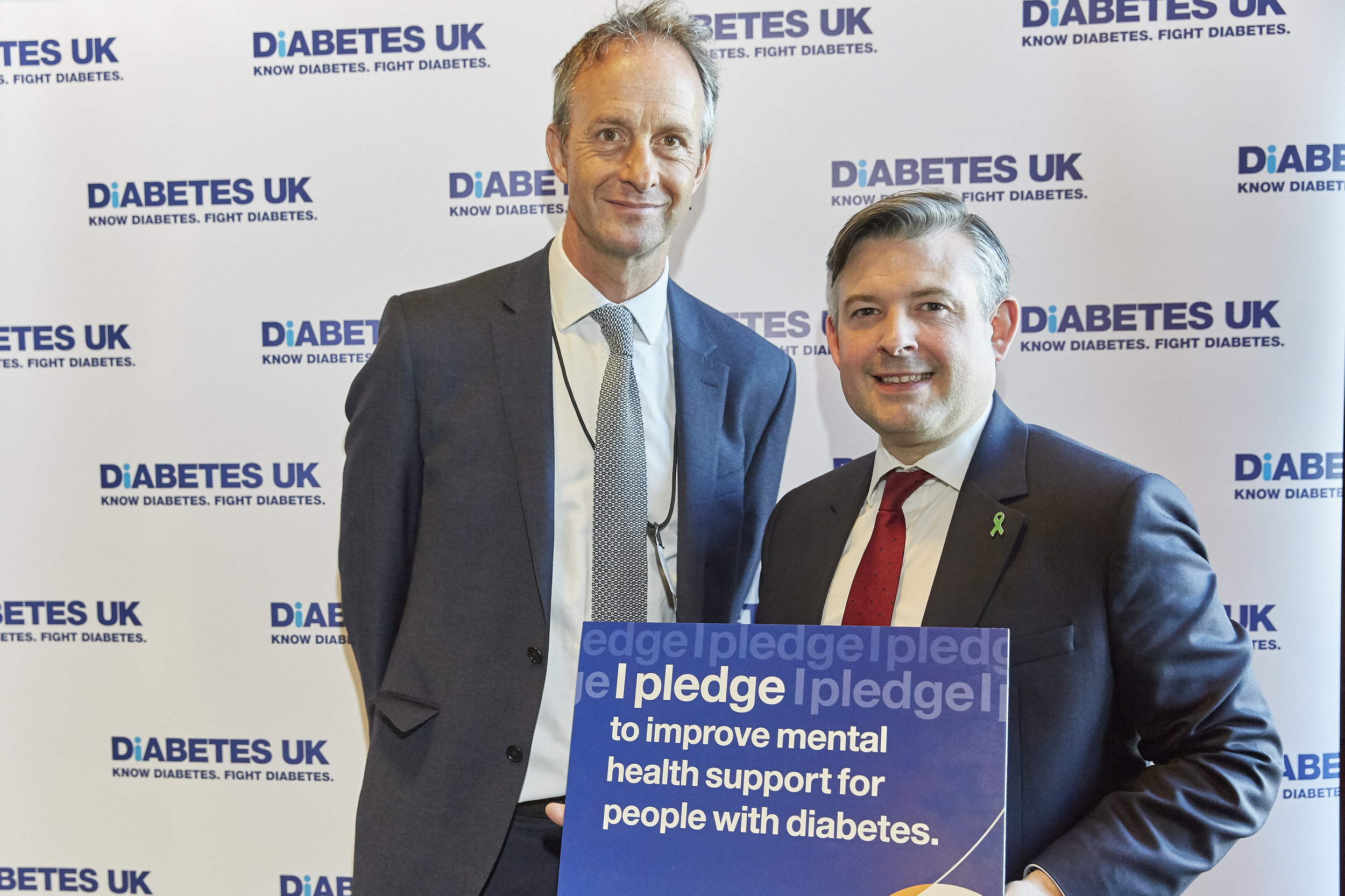 "Jon backs calls for diabetes emotional and mental health support at the launch of Diabetes UK's ""It's Missing"" campaign - Tuesday May 14 2019"