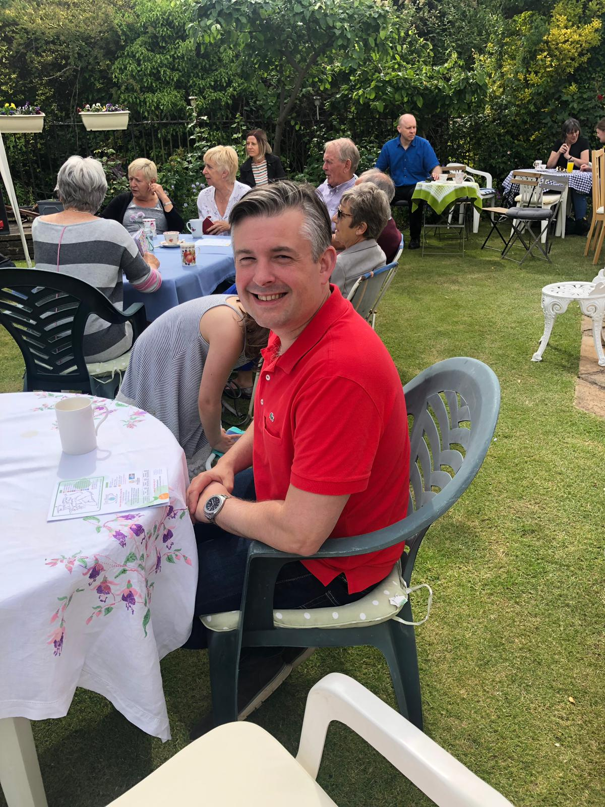 "Jon at the Art House Festival, Jon said: ""Lots of local fabulous art on display and our immense thanks to residents who have opened up their homes, all the volunteers and especially everyone selling cakes again for charity at 'Tart House'"" - Saturday June 8 2019"