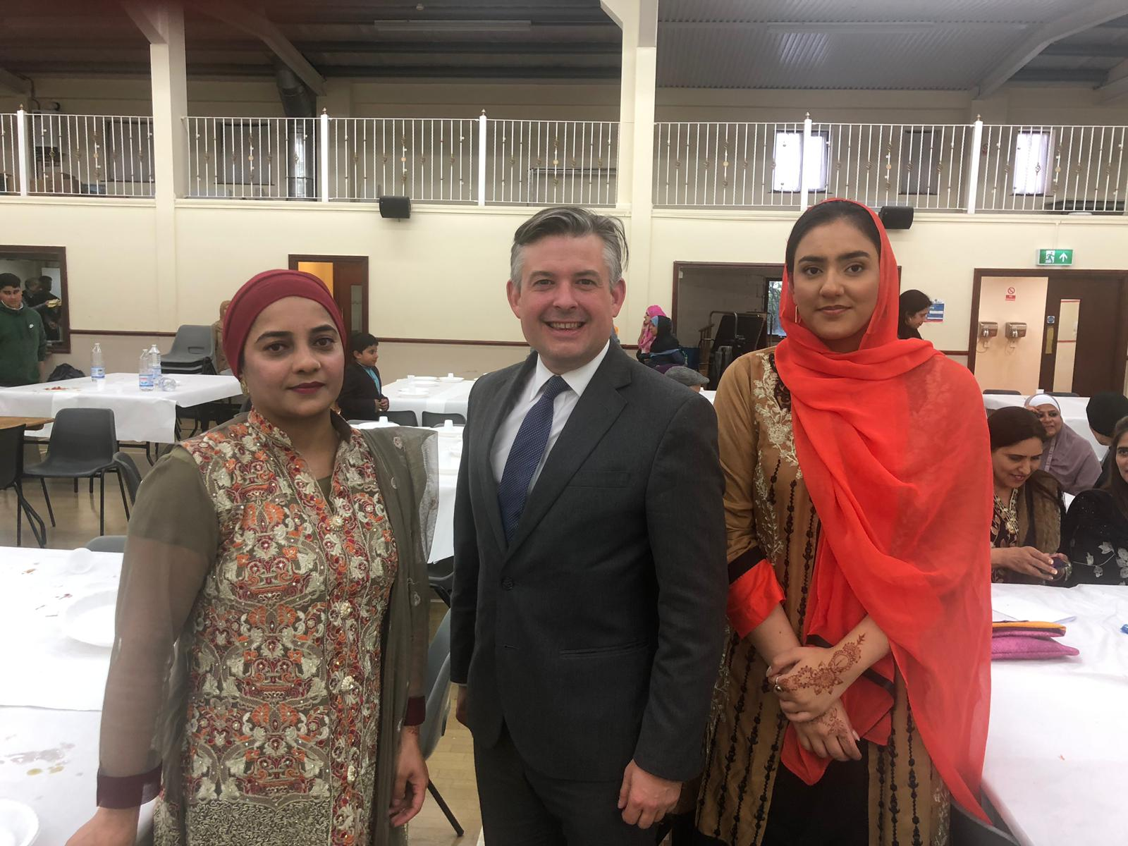 Jon spoke at the Inter-faith Eid Dinner at Central Mosque organised by The Islamic Centre Leicester to celebrate wider integration with all faith and non-faith communities - Friday June 7 2019