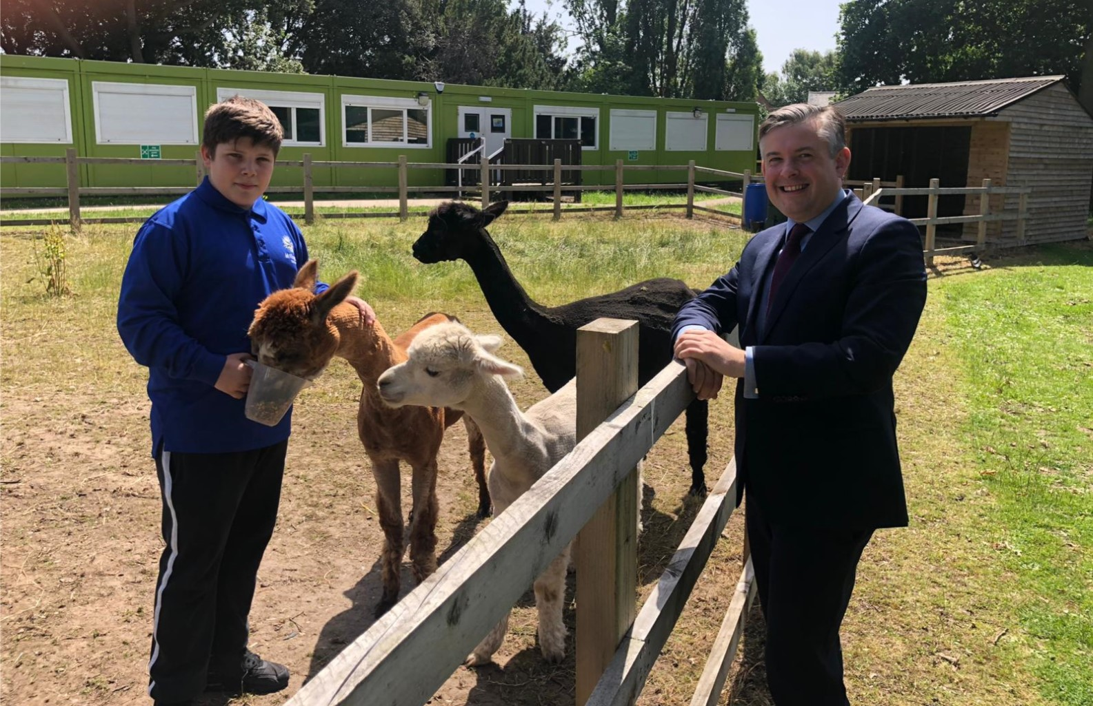 Jon visits Millgate School as part of the ''Send My Friend to School'' campaign to ensure quality education for all children - Friday June 28 2019