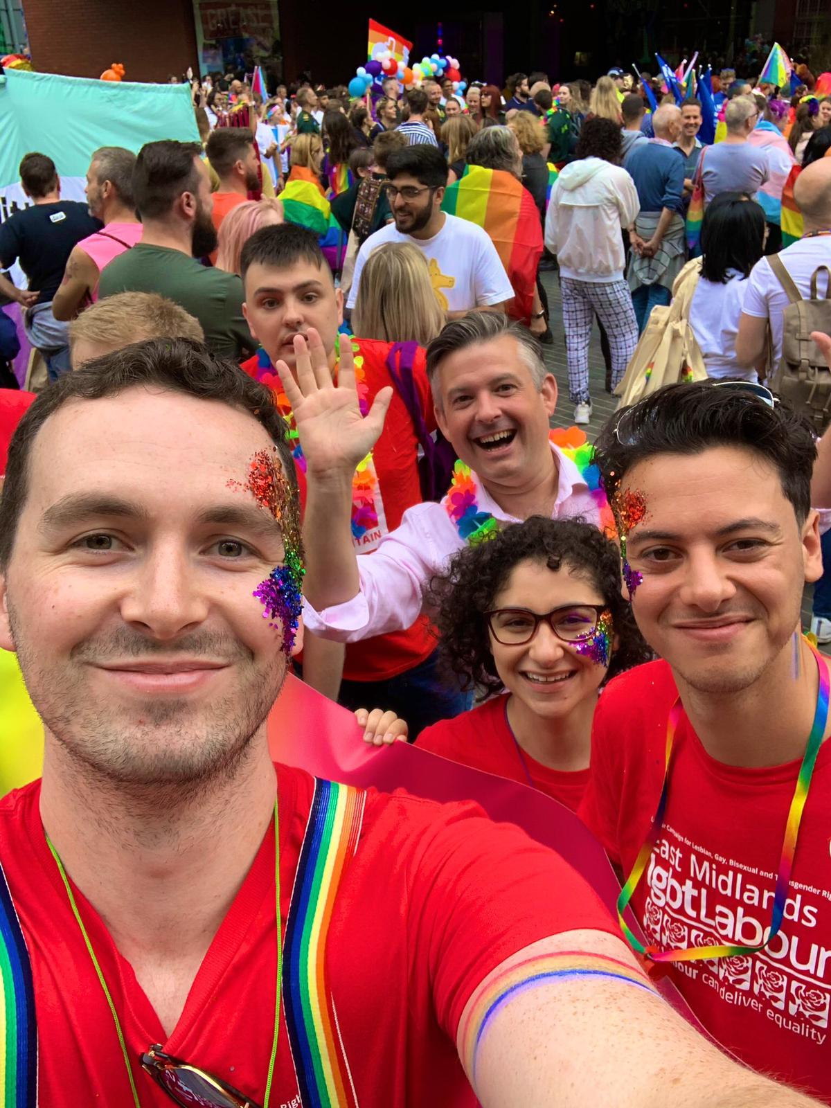 Jon takes part in this year's Leicester Pride - Friday August 31 2019