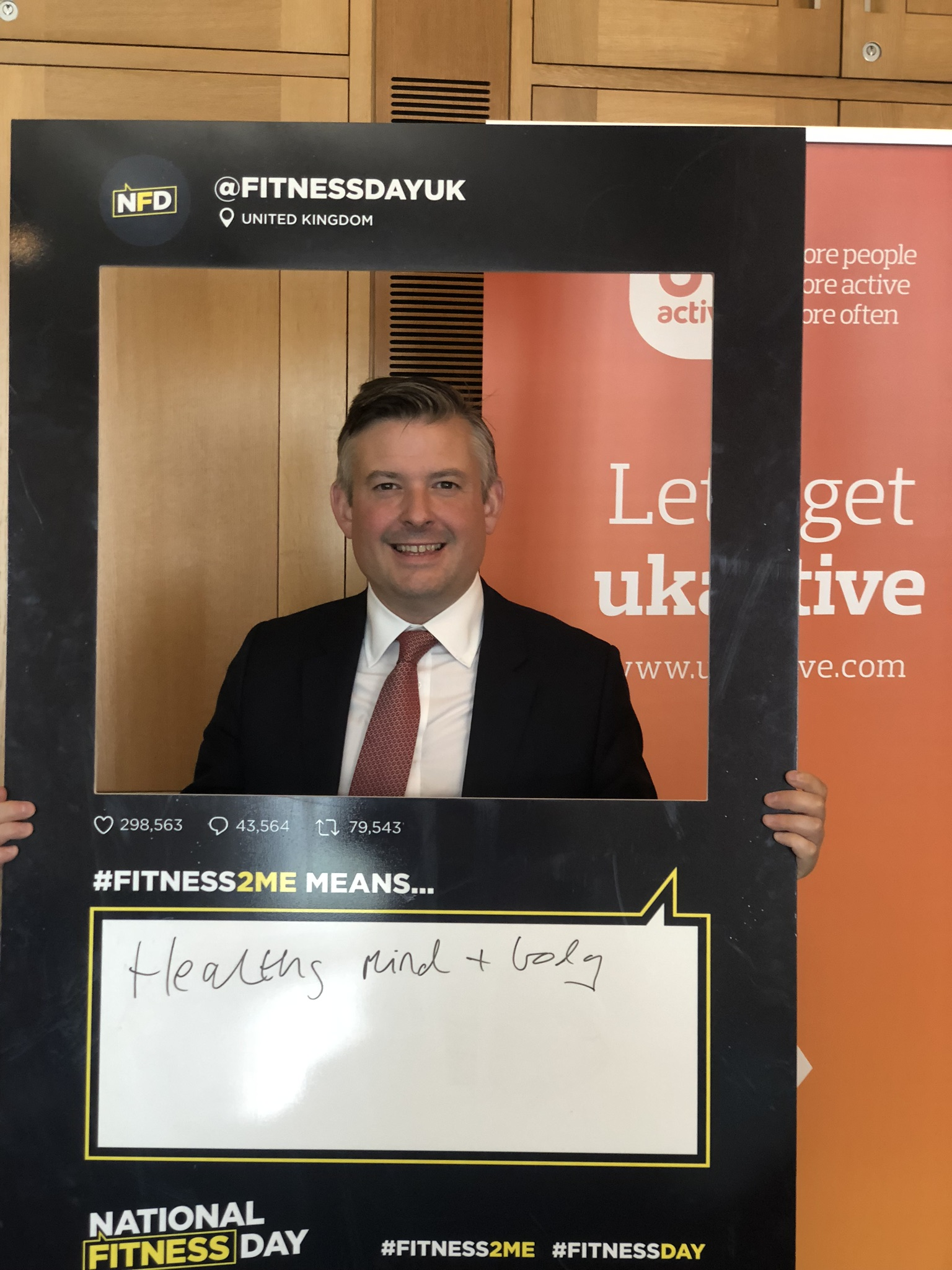 Jon is backing National Fitness Day which aims to make the 25th September the most active day of the year - Monday September 9 2019