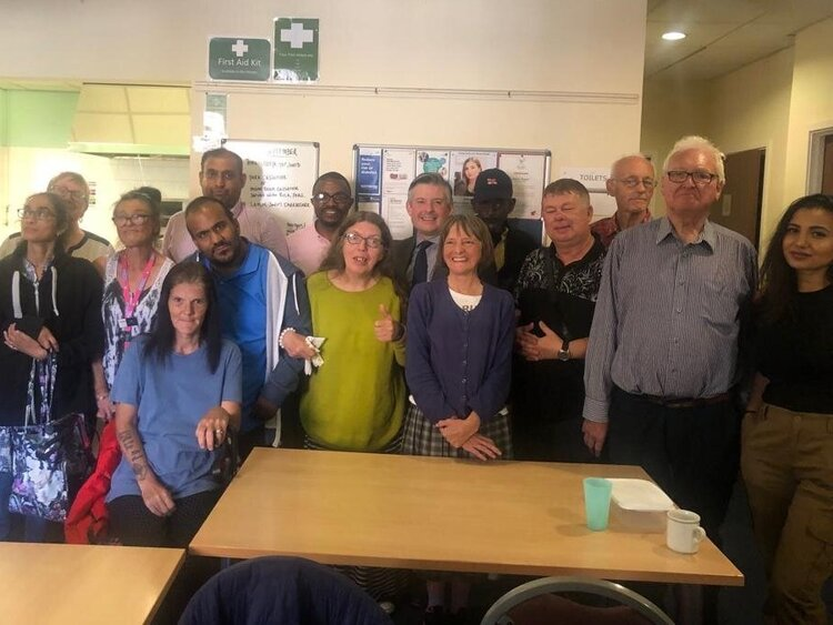 Jon at the Centre Project that tackles social isolation and helps vulnerable people across the City - Friday September 13 2019