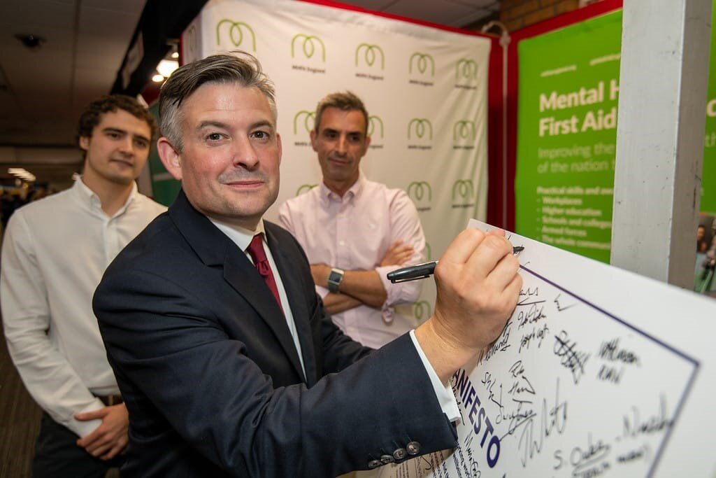 Jon signs up to 'Where's Your Head At?' Workplace Manifesto calling for a working world where mental health is supported and protected - Wednesday September 25 2019