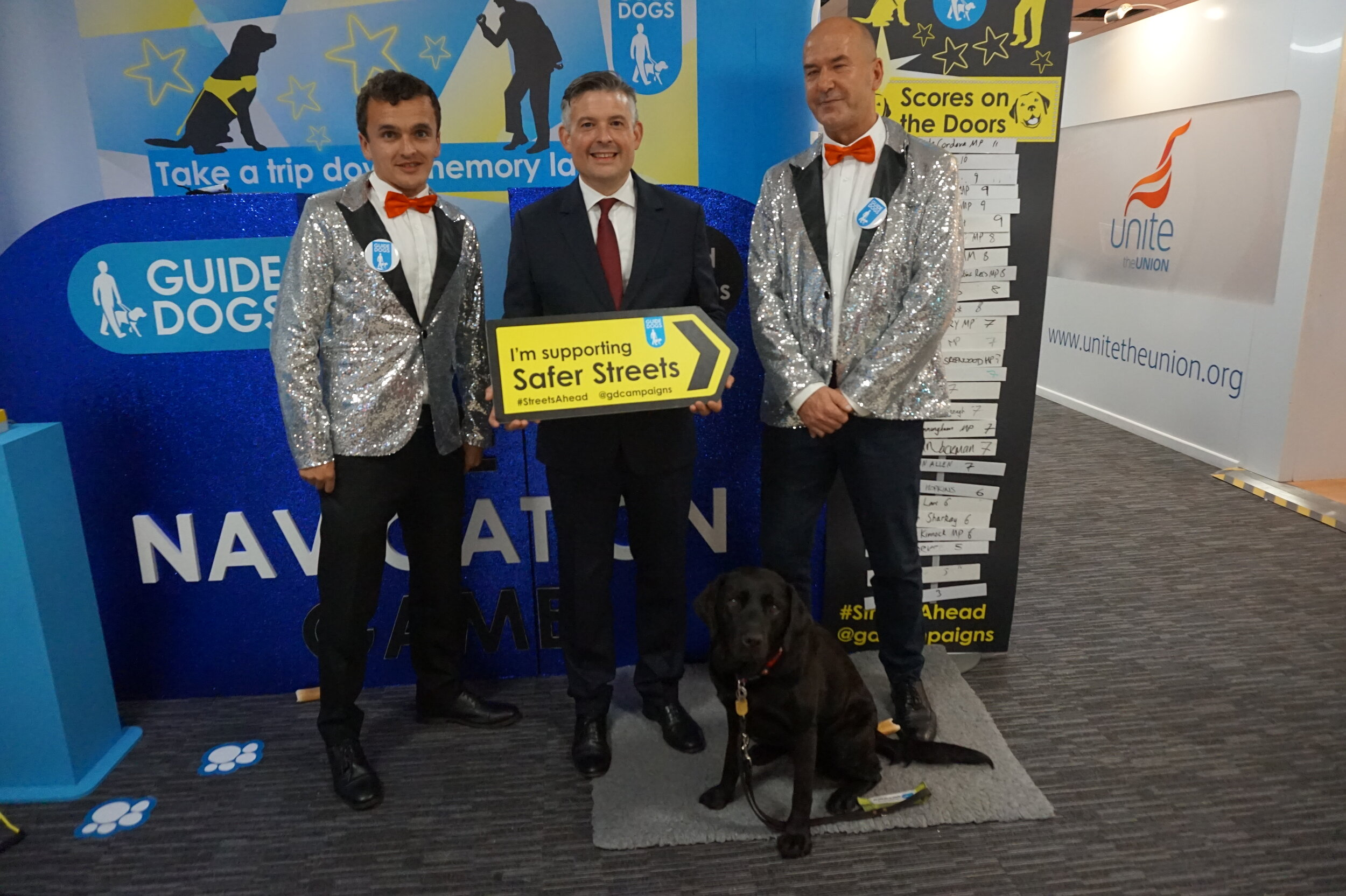 Jon visiting the Guide Dogs stand at this year's Labour Party Conference - Monday September 23 2019