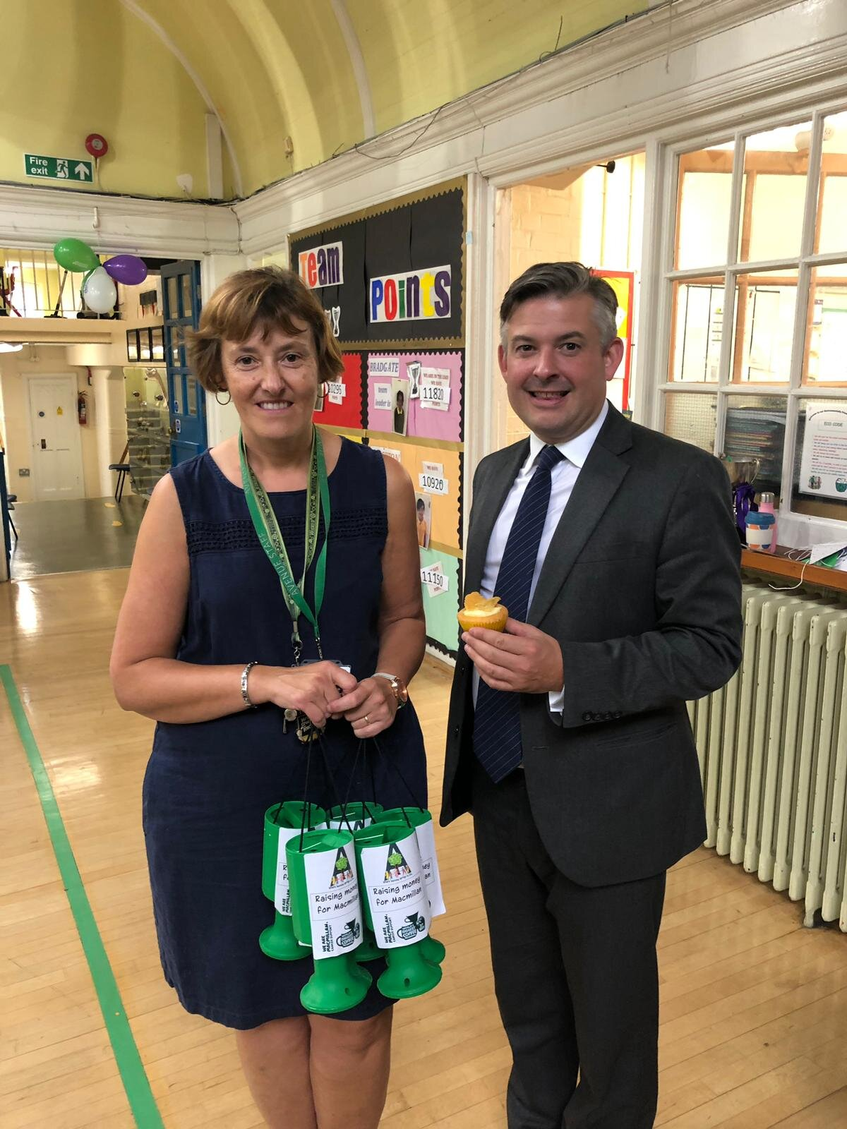 Jon supporting Macmillan Coffee Morning at Avenue Primary School - Friday September 27 2019