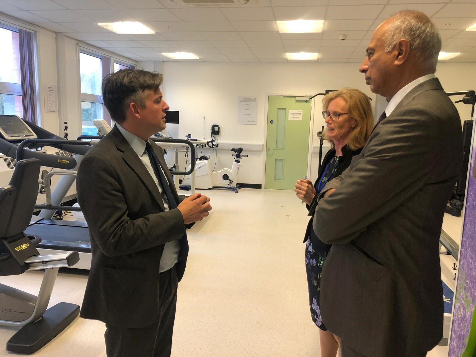 Jon with Professors Melanie Davies and Kamlesh Khunti at Leicester Diabetes Centre - Friday October 4 2019