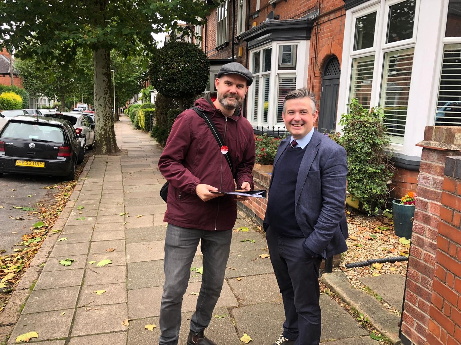 Jon out and about on the doorstep in Clarendon Park picking up local concerns with Councillor Danny Myers - Friday October 11 2019